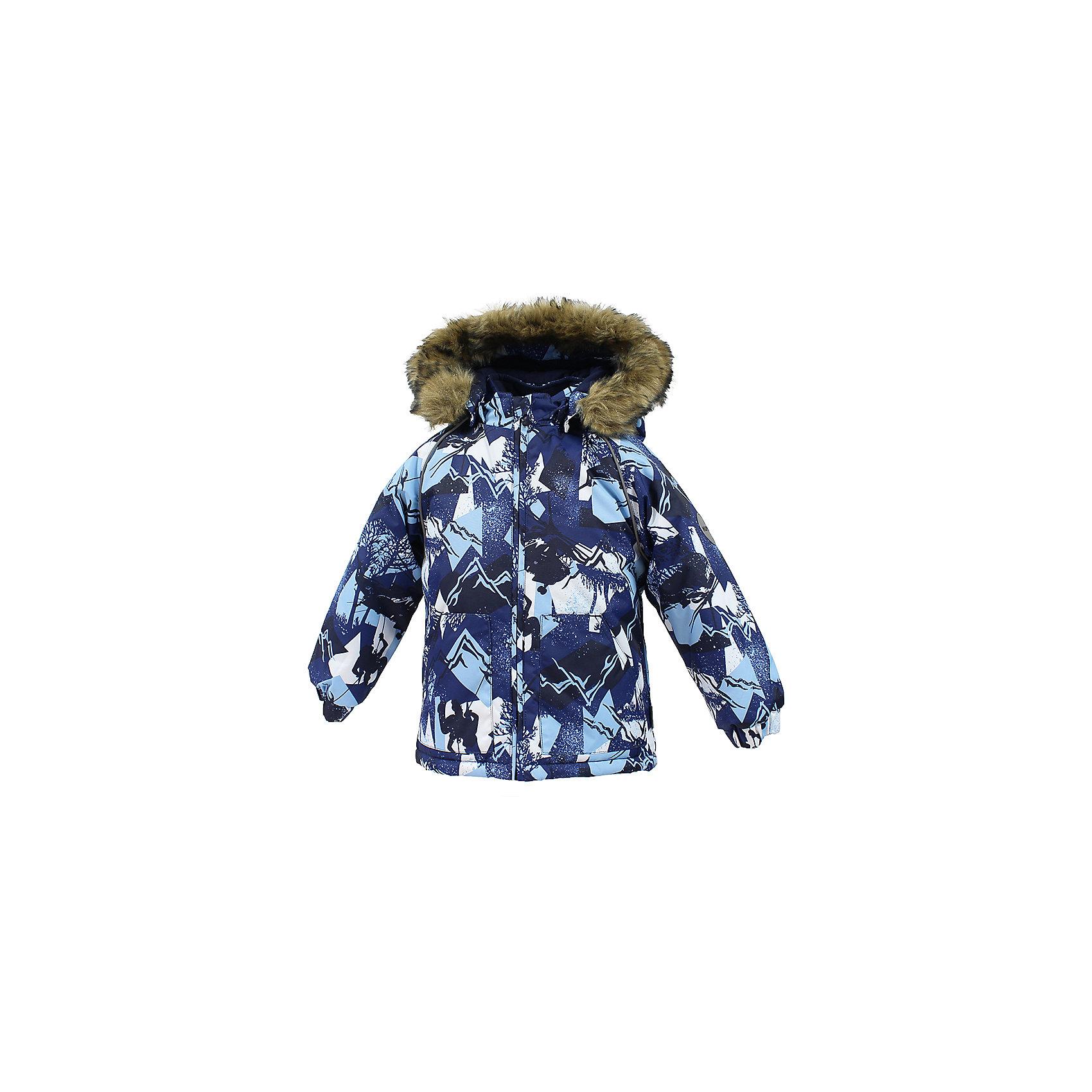 Куртка VIRGO HuppaВерхняя одежда<br>Характеристики товара:<br><br>• цвет: синий;<br>• пол: мальчик;<br>• состав: 100% полиэстер;<br>• утеплитель: полиэстер 300 гр .;<br>• подкладка: фланель 100% хлопок;<br>• сезон: зима;<br>• температурный режим: от -5 до - 30С;<br>• водонепроницаемость: 10000 мм ;<br>• воздухопроницаемость: 10000 г/м2/24ч;<br>• особенности модели: c рисунком; с мехом на капюшоне;<br>• манжеты рукавов эластичные, на резинках;<br>• безопасный капюшон крепится на кнопки и, при необходимости, отстегивается;<br>• мех на капюшоне не съемный;<br>• светоотражающие элементы для безопасности ребенка;<br>• страна бренда: Финляндия;<br>• страна изготовитель: Эстония.<br><br>Зимняя куртка с капюшоном для мальчика. Все швы проклеены и водонепроницаемы, а сама она изготовлена из водо и ветронепроницаемого, грязеотталкивающего материала.<br><br>Съемный капюшон защищает от ветра, к тому же он абсолютно безопасен – легко отстегнется, если вдруг за что-нибудь зацепится. Обратите внимание: куртку можно сушить в сушильной машине. Зимняя куртка на молнии для мальчика декорирована рисунком.<br><br>Зимнюю куртку Virgo для мальчика фирмы HUPPA  можно купить в нашем интернет-магазине.<br><br>Ширина мм: 356<br>Глубина мм: 10<br>Высота мм: 245<br>Вес г: 519<br>Цвет: синий<br>Возраст от месяцев: 12<br>Возраст до месяцев: 18<br>Пол: Унисекс<br>Возраст: Детский<br>Размер: 86,92,98,104,80<br>SKU: 7027264