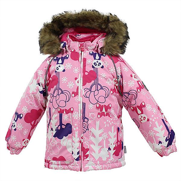Куртка VIRGO Huppa для девочкиВерхняя одежда<br>Характеристики товара:<br><br>• цвет: розовый;<br>• пол: девочка;<br>• состав: 100% полиэстер;<br>• утеплитель: полиэстер 300 гр.;<br>• подкладка: фланель 100% хлопок;<br>• сезон: зима;<br>• температурный режим: от -5 до - 30С;<br>• водонепроницаемость: 5000 мм ;<br>• воздухопроницаемость: 5000 г/м2/24ч;<br>• особенности модели: c рисунком; с мехом на капюшоне;<br>• манжеты рукавов эластичные, на резинках;<br>• безопасный капюшон крепится на кнопки и, при необходимости, отстегивается;<br>• мех на капюшоне не съемный;<br>• светоотражающие элементы для безопасности ребенка;<br>• страна бренда: Финляндия;<br>• страна изготовитель: Эстония.<br><br>Зимняя куртка с капюшоном для девочки. Все швы проклеены и водонепроницаемы, а сама она изготовлена из водо и ветронепроницаемого, грязеотталкивающего материала.<br><br>Съемный капюшон защищает от ветра, к тому же он абсолютно безопасен – легко отстегнется, если вдруг за что-нибудь зацепится. Обратите внимание: куртку можно сушить в сушильной машине. Зимняя куртка на молнии для девочки декорирована рисунком.<br><br>Зимнюю куртку Virgo для девочки фирмы HUPPA  можно купить в нашем интернет-магазине.<br>Ширина мм: 356; Глубина мм: 10; Высота мм: 245; Вес г: 519; Цвет: розовый; Возраст от месяцев: 12; Возраст до месяцев: 15; Пол: Женский; Возраст: Детский; Размер: 80,104,98,92,86; SKU: 7027270;