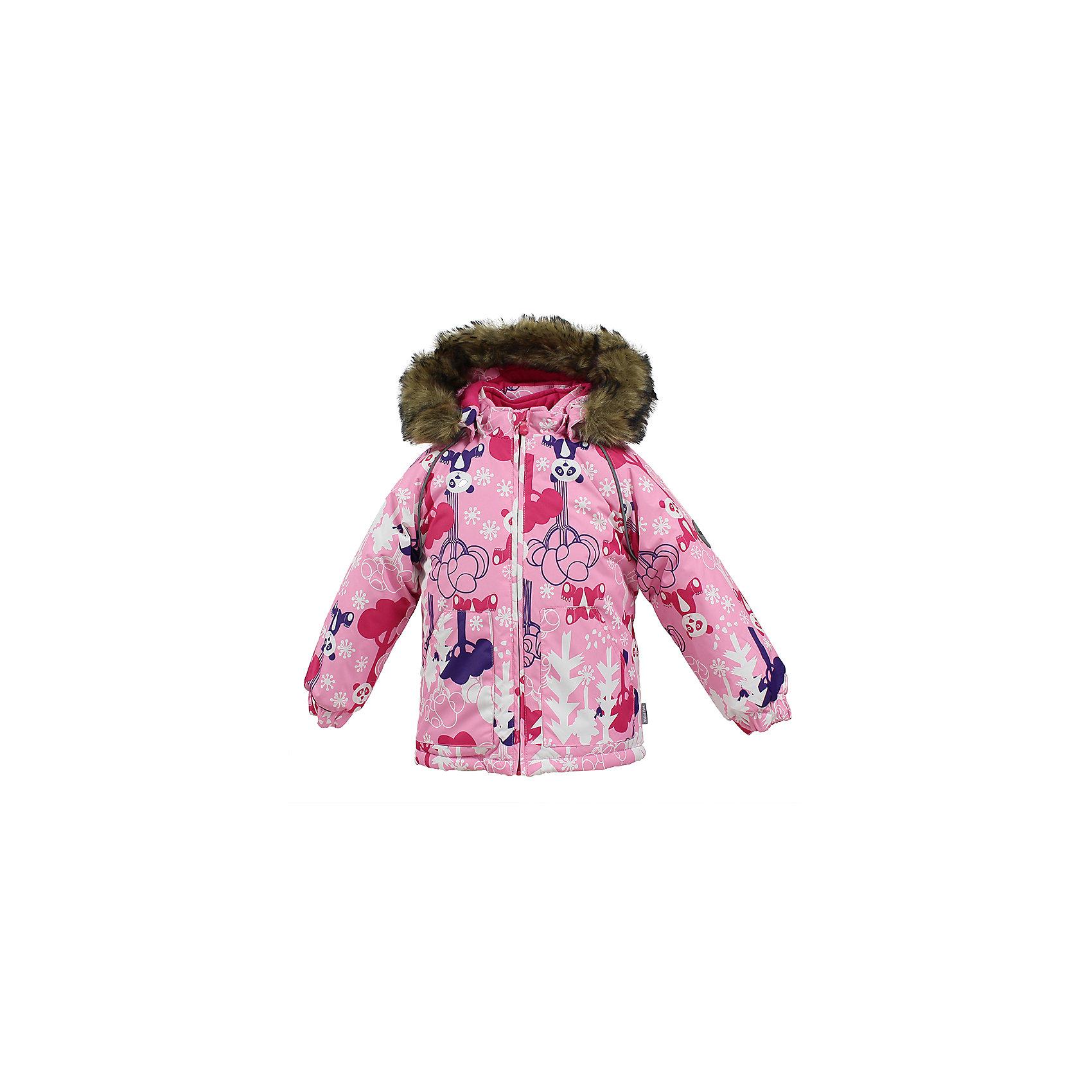 Куртка VIRGO HuppaВерхняя одежда<br>Характеристики товара:<br><br>• цвет: розовый;<br>• пол: девочка;<br>• состав: 100% полиэстер;<br>• утеплитель: полиэстер 300 гр.;<br>• подкладка: фланель 100% хлопок;<br>• сезон: зима;<br>• температурный режим: от -5 до - 30С;<br>• водонепроницаемость: 5000 мм ;<br>• воздухопроницаемость: 5000 г/м2/24ч;<br>• особенности модели: c рисунком; с мехом на капюшоне;<br>• манжеты рукавов эластичные, на резинках;<br>• безопасный капюшон крепится на кнопки и, при необходимости, отстегивается;<br>• мех на капюшоне не съемный;<br>• светоотражающие элементы для безопасности ребенка;<br>• страна бренда: Финляндия;<br>• страна изготовитель: Эстония.<br><br>Зимняя куртка с капюшоном для девочки. Все швы проклеены и водонепроницаемы, а сама она изготовлена из водо и ветронепроницаемого, грязеотталкивающего материала.<br><br>Съемный капюшон защищает от ветра, к тому же он абсолютно безопасен – легко отстегнется, если вдруг за что-нибудь зацепится. Обратите внимание: куртку можно сушить в сушильной машине. Зимняя куртка на молнии для девочки декорирована рисунком.<br><br>Зимнюю куртку Virgo для девочки фирмы HUPPA  можно купить в нашем интернет-магазине.<br><br>Ширина мм: 356<br>Глубина мм: 10<br>Высота мм: 245<br>Вес г: 519<br>Цвет: розовый<br>Возраст от месяцев: 12<br>Возраст до месяцев: 18<br>Пол: Унисекс<br>Возраст: Детский<br>Размер: 86,80,104,98,92<br>SKU: 7027270