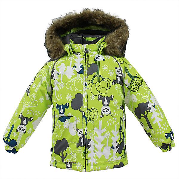 Куртка VIRGO Huppa для мальчикаВерхняя одежда<br>Характеристики товара:<br><br>• цвет: зеленый;<br>• пол: мальчик;<br>• состав: 100% полиэстер;<br>• утеплитель: полиэстер 300 гр .;<br>• подкладка: фланель 100% хлопок;<br>• сезон: зима;<br>• температурный режим: от -5 до - 30С;<br>• водонепроницаемость: 5000 мм ;<br>• воздухопроницаемость: 5000 г/м2/24ч;<br>• особенности модели: c рисунком; с мехом на капюшоне;<br>• манжеты рукавов эластичные, на резинках;<br>• безопасный капюшон крепится на кнопки, при необходимости, отстегивается;<br>• мех на капюшоне не съемный;<br>• светоотражающие элементы для безопасности ребенка;<br>• страна бренда: Финляндия;<br>• страна изготовитель: Эстония.<br><br>Зимняя куртка с капюшоном для мальчика. Все швы проклеены и водонепроницаемы, а сама она изготовлена из водо и ветронепроницаемого, грязеотталкивающего материала.<br><br>Съемный капюшон защищает от ветра, к тому же он абсолютно безопасен – легко отстегнется, если вдруг за что-нибудь зацепится. Обратите внимание: куртку можно сушить в сушильной машине. Зимняя куртка на молнии для мальчика декорирована рисунком.<br><br>Зимнюю куртку Virgo для мальчика фирмы HUPPA  можно купить в нашем интернет-магазине.<br>Ширина мм: 356; Глубина мм: 10; Высота мм: 245; Вес г: 519; Цвет: зеленый; Возраст от месяцев: 12; Возраст до месяцев: 15; Пол: Мужской; Возраст: Детский; Размер: 80,104,98,92,86; SKU: 7027282;