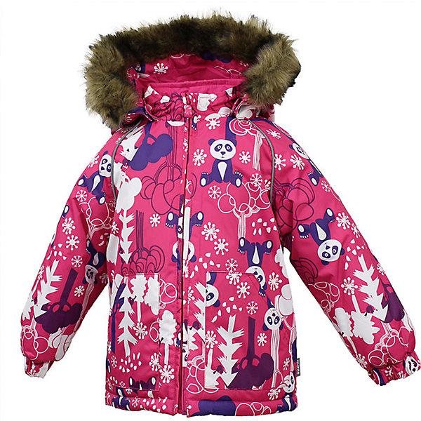 Куртка VIRGO Huppa для девочкиЗимние куртки<br>Характеристики товара:<br><br>• цвет: фуксия;<br>• пол: девочка;<br>• состав: 100% полиэстер;<br>• утеплитель: полиэстер 300 гр.;<br>• подкладка: фланель 100% хлопок;<br>• сезон: зима;<br>• температурный режим: от -5 до - 30С;<br>• водонепроницаемость: 5000 мм ;<br>• воздухопроницаемость: 5000 г/м2/24ч;<br>• особенности модели: c рисунком; с мехом на капюшоне;<br>• манжеты рукавов эластичные, на резинках;<br>• безопасный капюшон крепится на кнопки и, при необходимости, отстегивается;<br>• мех на капюшоне не съемный;<br>• светоотражающие элементы для безопасности ребенка;<br>• страна бренда: Финляндия;<br>• страна изготовитель: Эстония.<br><br>Зимняя куртка с капюшоном для девочки. Все швы проклеены и водонепроницаемы, а сама она изготовлена из водо и ветронепроницаемого, грязеотталкивающего материала.<br><br>Съемный капюшон защищает от ветра, к тому же он абсолютно безопасен – легко отстегнется, если вдруг за что-нибудь зацепится. Обратите внимание: куртку можно сушить в сушильной машине. Зимняя куртка на молнии для девочки декорирована рисунком.<br><br>Зимнюю куртку Virgo для девочки фирмы HUPPA  можно купить в нашем интернет-магазине.<br>Ширина мм: 356; Глубина мм: 10; Высота мм: 245; Вес г: 519; Цвет: фуксия; Возраст от месяцев: 12; Возраст до месяцев: 15; Пол: Женский; Возраст: Детский; Размер: 80,104,98,92,86; SKU: 7027288;