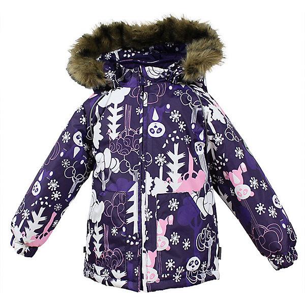 Куртка VIRGO Huppa для девочкиВерхняя одежда<br>Характеристики товара:<br><br>• цвет: лиловый;<br>• пол: девочка;<br>• состав: 100% полиэстер;<br>• утеплитель: полиэстер 300 гр.;<br>• подкладка: фланель 100% хлопок;<br>• сезон: зима;<br>• температурный режим: от -5 до - 30С;<br>• водонепроницаемость: 5000 мм ;<br>• воздухопроницаемость: 5000 г/м2/24ч;<br>• особенности модели: c рисунком; с мехом на капюшоне;<br>• манжеты рукавов эластичные, на резинках;<br>• безопасный капюшон крепится на кнопки и, при необходимости, отстегивается;<br>• мех на капюшоне не съемный;<br>• светоотражающие элементы для безопасности ребенка;<br>• страна бренда: Финляндия;<br>• страна изготовитель: Эстония.<br><br>Зимняя куртка с капюшоном для девочки. Все швы проклеены и водонепроницаемы, а сама она изготовлена из водо и ветронепроницаемого, грязеотталкивающего материала.<br><br>Съемный капюшон защищает от ветра, к тому же он абсолютно безопасен – легко отстегнется, если вдруг за что-нибудь зацепится. Обратите внимание: куртку можно сушить в сушильной машине. Зимняя куртка на молнии для девочки декорирована рисунком.<br><br>Зимнюю куртку Virgo для девочки фирмы HUPPA  можно купить в нашем интернет-магазине.<br><br>Ширина мм: 356<br>Глубина мм: 10<br>Высота мм: 245<br>Вес г: 519<br>Цвет: лиловый<br>Возраст от месяцев: 36<br>Возраст до месяцев: 48<br>Пол: Женский<br>Возраст: Детский<br>Размер: 104,80,86,92,98<br>SKU: 7027294