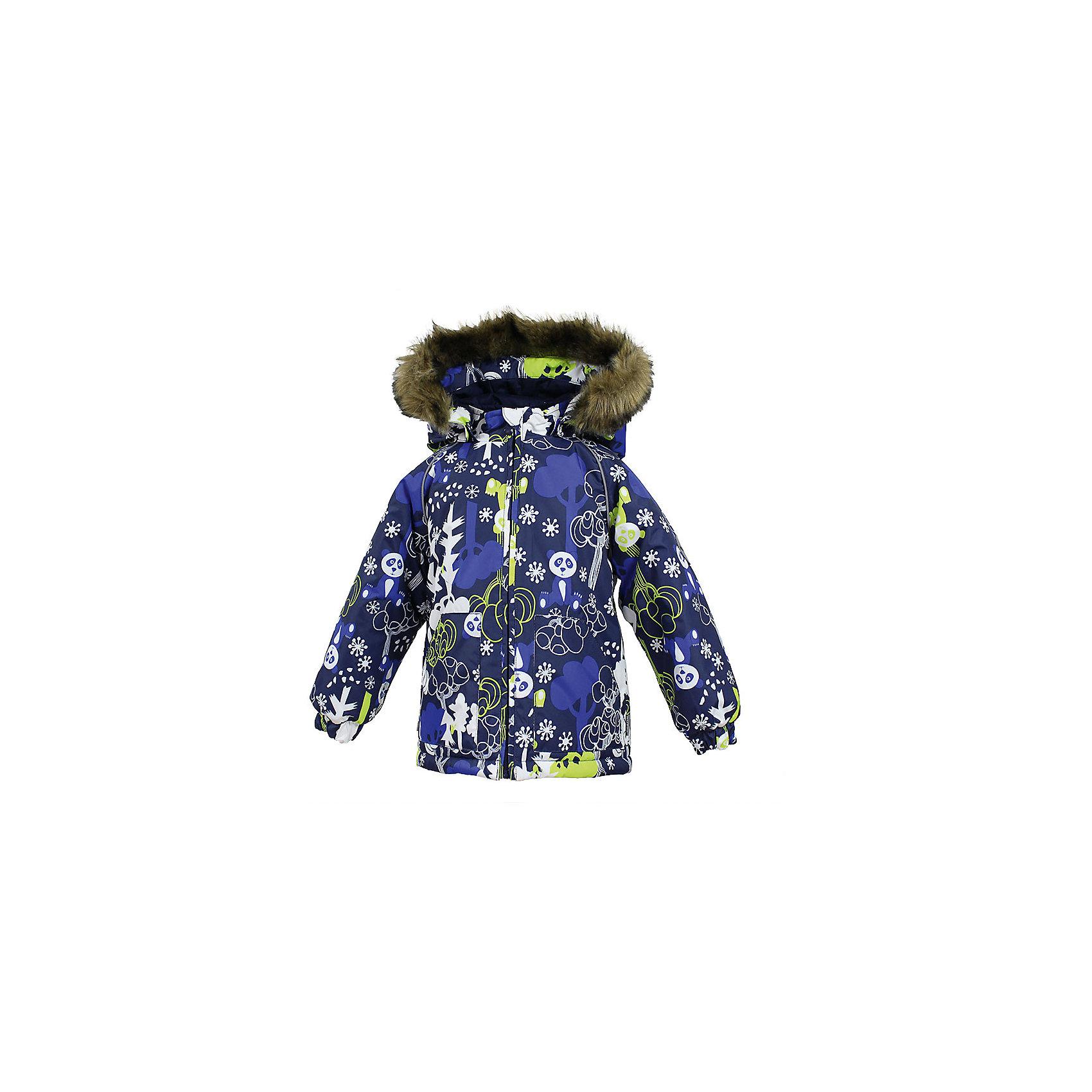 Куртка VIRGO HuppaВерхняя одежда<br>Характеристики товара:<br><br>• цвет: синий;<br>• пол: мальчик;<br>• состав: 100% полиэстер;<br>• утеплитель: полиэстер 300 гр .;<br>• подкладка: фланель 100% хлопок;<br>• сезон: зима;<br>• температурный режим: от -5 до - 30С;<br>• водонепроницаемость: 5000 мм ;<br>• воздухопроницаемость: 5000 г/м2/24ч;<br>• особенности модели: c рисунком; с мехом на капюшоне;<br>• манжеты рукавов эластичные, на резинках;<br>• безопасный капюшон крепится на кнопки и, при необходимости, отстегивается;<br>• мех на капюшоне не съемный;<br>• светоотражающие элементы для безопасности ребенка;<br>• страна бренда: Финляндия;<br>• страна изготовитель: Эстония.<br><br>Зимняя куртка с капюшоном для мальчика. Все швы проклеены и водонепроницаемы, а сама она изготовлена из водо и ветронепроницаемого, грязеотталкивающего материала.<br><br>Съемный капюшон защищает от ветра, к тому же он абсолютно безопасен – легко отстегнется, если вдруг за что-нибудь зацепится. Обратите внимание: куртку можно сушить в сушильной машине. Зимняя куртка на молнии для мальчика декорирована рисунком.<br><br>Зимнюю куртку Virgo для мальчика фирмы HUPPA  можно купить в нашем интернет-магазине.<br><br>Ширина мм: 356<br>Глубина мм: 10<br>Высота мм: 245<br>Вес г: 519<br>Цвет: синий<br>Возраст от месяцев: 36<br>Возраст до месяцев: 48<br>Пол: Унисекс<br>Возраст: Детский<br>Размер: 104,80,86,92,98<br>SKU: 7027300