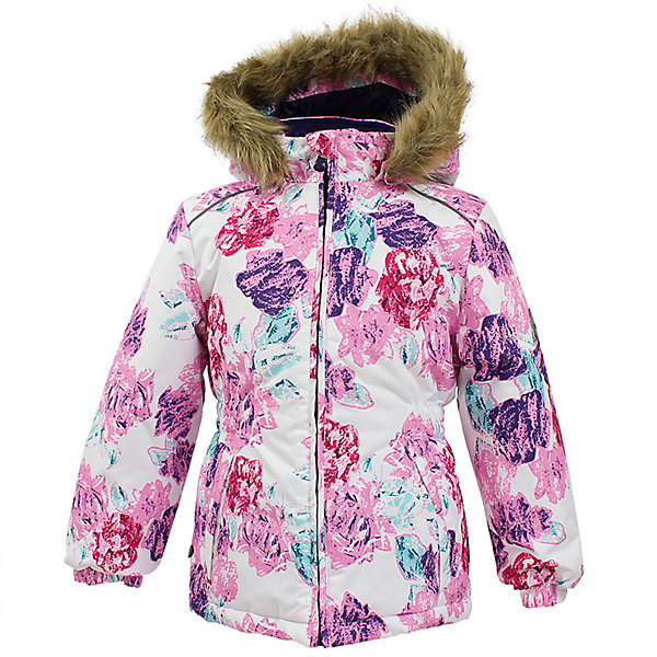 Куртка MARII Huppa для девочкиВерхняя одежда<br>Характеристики товара:<br><br>• цвет: белый с цветами;<br>• пол: девочка;<br>• состав: 100% полиэстер;<br>• утеплитель: полиэстер 300 гр.;<br>• подкладка: тафта, флис;<br>• сезон: зима;<br>• температурный режим: от -5 до - 30С;<br>• водонепроницаемость: 10000 мм ;<br>• воздухопроницаемость: 10000 г/м2/24ч;<br>• особенности модели: c рисунком; с мехом на капюшоне;<br>• манжеты рукавов эластичные, на резинках;<br>• безопасный капюшон крепится на кнопки и, при необходимости, отстегивается;<br>• мех на капюшоне не съемный;<br>• светоотражающие элементы для безопасности ребенка;<br>• страна бренда: Финляндия;<br>• страна изготовитель: Эстония.<br><br>Теплая куртка для девочки Huppa идеально подойдет для ребенка в холодное время года. <br><br>Куртка Marii снабжена вшитым эластичным пояском-резинкой, обеспечивающий безупречную посадку одежды по фигуре. Внутри куртку обрамляет мягкая тафта. Внутренняя поверхность манжет и воротника отделана флисом.Капюшон, декорированный мехом, защитит нежные щечки от ветра. Спереди расположены два прорезных кармашка. Оформлено изделие оригинальным принтом. Предусмотрены светоотражающие элементы для безопасности ребенка в темное время суток.<br><br>Куртка Marii для девочки фирмы HUPPA  можно купить в нашем интернет-магазине.<br>Ширина мм: 356; Глубина мм: 10; Высота мм: 245; Вес г: 519; Цвет: розовый/белый; Возраст от месяцев: 18; Возраст до месяцев: 24; Пол: Женский; Возраст: Детский; Размер: 92,140,134,128,122,116,110,104,98; SKU: 7027313;