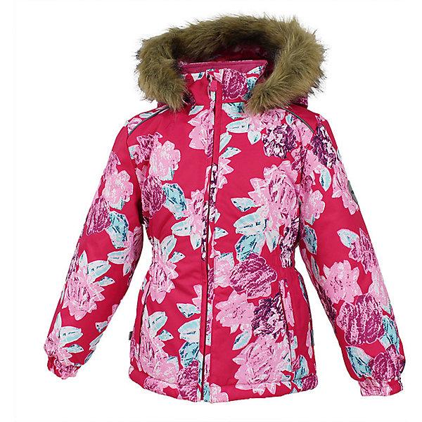 Куртка MARII Huppa для девочкиВерхняя одежда<br>Характеристики товара:<br><br>• цвет: фуксия с цветами;<br>• пол: девочка;<br>• состав: 100% полиэстер;<br>• утеплитель: полиэстер 300 гр.;<br>• подкладка: тафта, флис;<br>• сезон: зима;<br>• температурный режим: от -5 до - 30С;<br>• водонепроницаемость: 10000 мм ;<br>• воздухопроницаемость: 10000 г/м2/24ч;<br>• особенности модели: c рисунком; с мехом на капюшоне;<br>• манжеты рукавов эластичные, на резинках;<br>• безопасный капюшон крепится на кнопки и, при необходимости, отстегивается;<br>• мех на капюшоне не съемный;<br>• светоотражающие элементы для безопасности ребенка;<br>• страна бренда: Финляндия;<br>• страна изготовитель: Эстония.<br><br>Теплая куртка для девочки Huppa идеально подойдет для ребенка в холодное время года. <br><br>Куртка Marii снабжена вшитым эластичным пояском-резинкой, обеспечивающий безупречную посадку одежды по фигуре. Внутри куртку обрамляет мягкая тафта. Внутренняя поверхность манжет и воротника отделана флисом.Капюшон, декорированный мехом, защитит нежные щечки от ветра. Спереди расположены два прорезных кармашка. Оформлено изделие оригинальным принтом. Предусмотрены светоотражающие элементы для безопасности ребенка в темное время суток.<br><br>Куртка Marii для девочки фирмы HUPPA  можно купить в нашем интернет-магазине.<br>Ширина мм: 356; Глубина мм: 10; Высота мм: 245; Вес г: 519; Цвет: фуксия; Возраст от месяцев: 108; Возраст до месяцев: 120; Пол: Женский; Возраст: Детский; Размер: 140,110,116,122,128,134; SKU: 7027323;