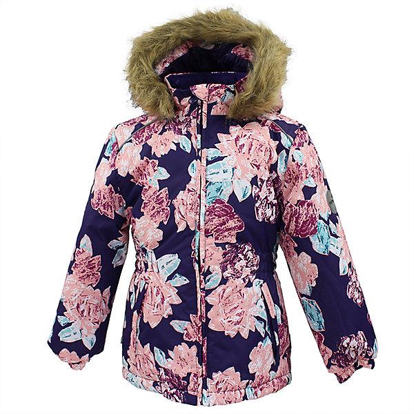 Куртка MARII Huppa для девочкиВерхняя одежда<br>Характеристики товара:<br><br>• цвет: фиолетовый с цветами;<br>• пол: девочка;<br>• состав: 100% полиэстер;<br>• утеплитель: полиэстер 300 гр.;<br>• подкладка: тафта, флис;<br>• сезон: зима;<br>• температурный режим: от -5 до - 30С;<br>• водонепроницаемость: 10000 мм ;<br>• воздухопроницаемость: 10000 г/м2/24ч;<br>• особенности модели: c рисунком; с мехом на капюшоне;<br>• манжеты рукавов эластичные, на резинках;<br>• безопасный капюшон крепится на кнопки и, при необходимости, отстегивается;<br>• мех на капюшоне не съемный;<br>• светоотражающие элементы для безопасности ребенка;<br>• страна бренда: Финляндия;<br>• страна изготовитель: Эстония.<br><br>Теплая куртка для девочки Huppa идеально подойдет для ребенка в холодное время года. <br><br>Куртка Marii снабжена вшитым эластичным пояском-резинкой, обеспечивающий безупречную посадку одежды по фигуре. Внутри куртку обрамляет мягкая тафта. Внутренняя поверхность манжет и воротника отделана флисом.Капюшон, декорированный мехом, защитит нежные щечки от ветра. Спереди расположены два прорезных кармашка. Оформлено изделие оригинальным принтом. Предусмотрены светоотражающие элементы для безопасности ребенка в темное время суток.<br><br>Куртка Marii для девочки фирмы HUPPA  можно купить в нашем интернет-магазине.<br><br>Ширина мм: 356<br>Глубина мм: 10<br>Высота мм: 245<br>Вес г: 519<br>Цвет: лиловый<br>Возраст от месяцев: 60<br>Возраст до месяцев: 72<br>Пол: Женский<br>Возраст: Детский<br>Размер: 116,140,134,128,122,110<br>SKU: 7027330