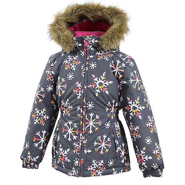 Куртка MARII Huppa для девочкиЗимние куртки<br>Характеристики товара:<br><br>• цвет: серый со снежинками;<br>• пол: девочка;<br>• состав: 100% полиэстер;<br>• утеплитель: полиэстер 300 гр.;<br>• подкладка: тафта, флис;<br>• сезон: зима;<br>• температурный режим: от -5 до - 30С;<br>• водонепроницаемость: 10000 мм ;<br>• воздухопроницаемость: 10000 г/м2/24ч;<br>• особенности модели: c рисунком; с мехом на капюшоне;<br>• манжеты рукавов эластичные, на резинках;<br>• безопасный капюшон крепится на кнопки и, при необходимости, отстегивается;<br>• мех на капюшоне не съемный;<br>• светоотражающие элементы для безопасности ребенка;<br>• страна бренда: Финляндия;<br>• страна изготовитель: Эстония.<br><br>Теплая куртка для девочки Huppa идеально подойдет для ребенка в холодное время года. <br><br>Куртка Marii снабжена вшитым эластичным пояском-резинкой, обеспечивающий безупречную посадку одежды по фигуре. Внутри куртку обрамляет мягкая тафта. Внутренняя поверхность манжет и воротника отделана флисом.Капюшон, декорированный мехом, защитит нежные щечки от ветра. Спереди расположены два прорезных кармашка. Оформлено изделие оригинальным принтом. Предусмотрены светоотражающие элементы для безопасности ребенка в темное время суток.<br><br>Куртка Marii для девочки фирмы HUPPA  можно купить в нашем интернет-магазине.<br><br>Ширина мм: 356<br>Глубина мм: 10<br>Высота мм: 245<br>Вес г: 519<br>Цвет: серый<br>Возраст от месяцев: 48<br>Возраст до месяцев: 60<br>Пол: Женский<br>Возраст: Детский<br>Размер: 110,140,134,128,122,116<br>SKU: 7027344