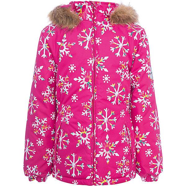 Куртка MARII Huppa для девочкиВерхняя одежда<br>Характеристики товара:<br><br>• цвет: фуксия со снежинками;<br>• пол: девочка;<br>• состав: 100% полиэстер;<br>• утеплитель: полиэстер 300 гр.;<br>• подкладка: тафта, флис;<br>• сезон: зима;<br>• температурный режим: от -5 до - 30С;<br>• водонепроницаемость: 10000 мм ;<br>• воздухопроницаемость: 10000 г/м2/24ч;<br>• особенности модели: c рисунком; с мехом на капюшоне;<br>• манжеты рукавов эластичные, на резинках;<br>• безопасный капюшон крепится на кнопки и, при необходимости, отстегивается;<br>• мех на капюшоне не съемный;<br>• светоотражающие элементы для безопасности ребенка;<br>• страна бренда: Финляндия;<br>• страна изготовитель: Эстония.<br><br>Теплая куртка для девочки Huppa идеально подойдет для ребенка в холодное время года. <br><br>Куртка Marii снабжена вшитым эластичным пояском-резинкой, обеспечивающий безупречную посадку одежды по фигуре. Внутри куртку обрамляет мягкая тафта. Внутренняя поверхность манжет и воротника отделана флисом.Капюшон, декорированный мехом, защитит нежные щечки от ветра. Спереди расположены два прорезных кармашка. Оформлено изделие оригинальным принтом. Предусмотрены светоотражающие элементы для безопасности ребенка в темное время суток.<br><br>Куртка Marii для девочки фирмы HUPPA  можно купить в нашем интернет-магазине.<br>Ширина мм: 356; Глубина мм: 10; Высота мм: 245; Вес г: 519; Цвет: фуксия; Возраст от месяцев: 108; Возраст до месяцев: 120; Пол: Женский; Возраст: Детский; Размер: 140,110,134,128,122,116; SKU: 7027351;