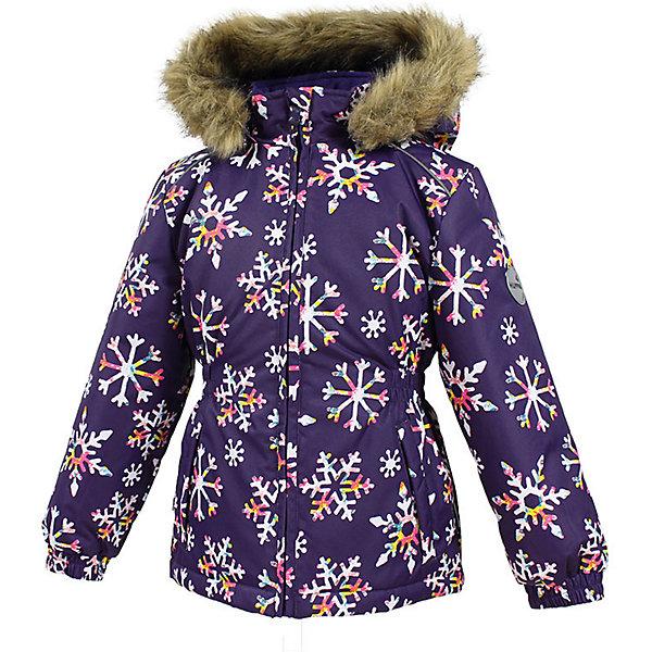 Куртка MARII Huppa для девочкиЗимние куртки<br>Характеристики товара:<br><br>• цвет: фиолетовый со снежинками;<br>• пол: девочка;<br>• состав: 100% полиэстер;<br>• утеплитель: полиэстер 300 гр.;<br>• подкладка: тафта, флис;<br>• сезон: зима;<br>• температурный режим: от -5 до - 30С;<br>• водонепроницаемость: 10000 мм ;<br>• воздухопроницаемость: 10000 г/м2/24ч;<br>• особенности модели: c рисунком; с мехом на капюшоне;<br>• манжеты рукавов эластичные, на резинках;<br>• безопасный капюшон крепится на кнопки и, при необходимости, отстегивается;<br>• мех на капюшоне не съемный;<br>• светоотражающие элементы для безопасности ребенка;<br>• страна бренда: Финляндия;<br>• страна изготовитель: Эстония.<br><br>Теплая куртка для девочки Huppa идеально подойдет для ребенка в холодное время года. <br><br>Куртка Marii снабжена вшитым эластичным пояском-резинкой, обеспечивающий безупречную посадку одежды по фигуре. Внутри куртку обрамляет мягкая тафта. Внутренняя поверхность манжет и воротника отделана флисом.Капюшон, декорированный мехом, защитит нежные щечки от ветра. Спереди расположены два прорезных кармашка. Оформлено изделие оригинальным принтом. Предусмотрены светоотражающие элементы для безопасности ребенка в темное время суток.<br><br>Куртка Marii для девочки фирмы HUPPA  можно купить в нашем интернет-магазине.<br><br>Ширина мм: 356<br>Глубина мм: 10<br>Высота мм: 245<br>Вес г: 519<br>Цвет: лиловый<br>Возраст от месяцев: 48<br>Возраст до месяцев: 60<br>Пол: Женский<br>Возраст: Детский<br>Размер: 110,140,134,128,122,116<br>SKU: 7027358