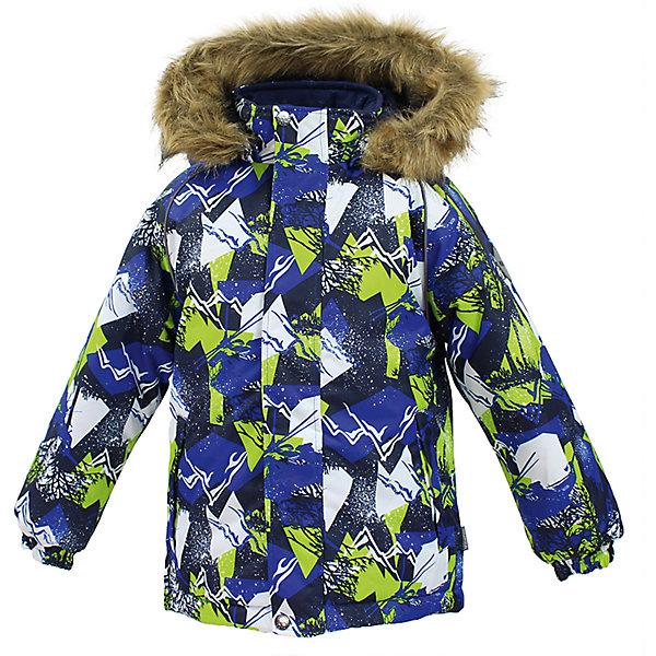 Куртка MARINEL Huppa для мальчикаЗимние куртки<br>Характеристики товара:<br><br>• цвет: синий;<br>• пол: мальчик;<br>• состав: 100% полиэстер;<br>• утеплитель: полиэстер 300 гр.;<br>• подкладка: тафта, флис;<br>• сезон: зима;<br>• температурный режим: от -5 до - 30С;<br>• водонепроницаемость: 10000 мм ;<br>• воздухопроницаемость: 10000 г/м2/24ч;<br>• особенности модели: c рисунком; с мехом на капюшоне;<br>• манжеты рукавов эластичные, на резинках;<br>• безопасный капюшон крепится на кнопки и, при необходимости, отстегивается;<br>• мех на капюшоне не съемный;<br>• молния с защитным клапаном;<br>• светоотражающие элементы для безопасности ребенка;<br>• страна бренда: Финляндия;<br>• страна изготовитель: Эстония.<br><br>Высококачественная мембрана не пропускает снег и влагу и отлично «дышит», что особенно важно, когда ребенок активно двигается. А современный синтетический утеплитель греет даже на сильном морозе и при этом не теряет своих свойств после многочисленных стирок.<br><br>Куртка прямого кроя с удлиненной спинкой и карманами на липучках. Утяжка по низу и планка на молнии исключает поддувание и попадание снега под куртку. Теплый капюшон с меховой опушкой легко отстегивается. Это предотвращает опасные ситуации во время игры, например, если капюшон ребенка за что-то зацепится. Светоотражающие элементы повышают безопасность ребенка при нахождении на улице при любой видимости и в темное время суток. <br><br>Функциональные элементы: капюшон отстегивается с помощью кнопок, мех не отстегивается, защитная планка молнии на липучке, защита подбородка от защемления, карманы без застежек, манжеты на резинке, утяжка по подолу, светоотражающие элементы. <br><br>Куртку  Marinel для мальчика фирмы HUPPA  можно купить в нашем интернет-магазине.<br><br>Ширина мм: 356<br>Глубина мм: 10<br>Высота мм: 245<br>Вес г: 519<br>Цвет: синий<br>Возраст от месяцев: 48<br>Возраст до месяцев: 60<br>Пол: Мужской<br>Возраст: Детский<br>Размер: 110,140,134,128,122,116<br>SKU: 7027365