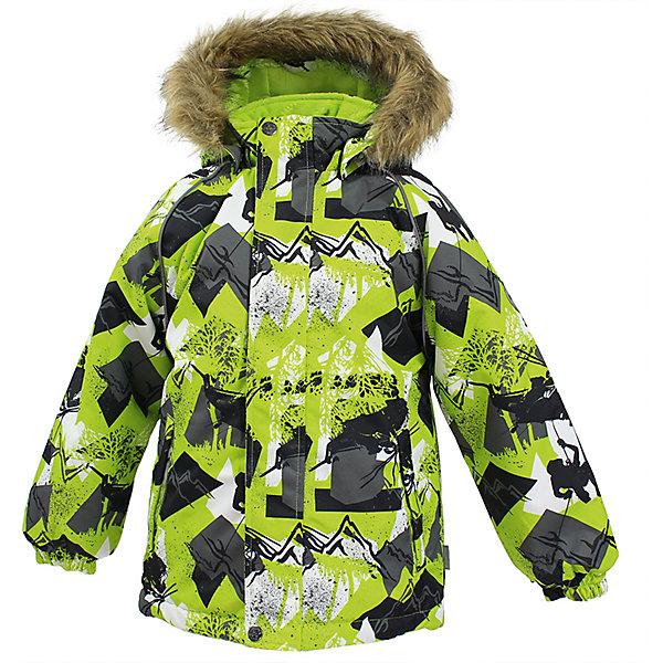 Куртка MARINEL Huppa для мальчикаВерхняя одежда<br>Характеристики товара:<br><br>• цвет: лайм;<br>• пол: мальчик;<br>• состав: 100% полиэстер;<br>• утеплитель: полиэстер 300 гр.;<br>• подкладка: тафта, флис;<br>• сезон: зима;<br>• температурный режим: от -5 до - 30С;<br>• водонепроницаемость: 10000 мм ;<br>• воздухопроницаемость: 10000 г/м2/24ч;<br>• особенности модели: c рисунком; с мехом на капюшоне;<br>• манжеты рукавов эластичные, на резинках;<br>• безопасный капюшон крепится на кнопки и, при необходимости, отстегивается;<br>• мех на капюшоне не съемный;<br>• молния с защитным клапаном;<br>• светоотражающие элементы для безопасности ребенка;<br>• страна бренда: Финляндия;<br>• страна изготовитель: Эстония.<br><br>Высококачественная мембрана не пропускает снег и влагу и отлично «дышит», что особенно важно, когда ребенок активно двигается. А современный синтетический утеплитель греет даже на сильном морозе и при этом не теряет своих свойств после многочисленных стирок.<br><br>Куртка прямого кроя с удлиненной спинкой и карманами на липучках. Утяжка по низу и планка на молнии исключает поддувание и попадание снега под куртку. Теплый капюшон с меховой опушкой легко отстегивается. Это предотвращает опасные ситуации во время игры, например, если капюшон ребенка за что-то зацепится. Светоотражающие элементы повышают безопасность ребенка при нахождении на улице при любой видимости и в темное время суток. <br><br>Функциональные элементы: капюшон отстегивается с помощью кнопок, мех не отстегивается, защитная планка молнии на липучке, защита подбородка от защемления, карманы без застежек, манжеты на резинке, утяжка по подолу, светоотражающие элементы. <br><br>Куртку  Marinel для мальчика фирмы HUPPA  можно купить в нашем интернет-магазине.<br><br>Ширина мм: 356<br>Глубина мм: 10<br>Высота мм: 245<br>Вес г: 519<br>Цвет: зеленый<br>Возраст от месяцев: 48<br>Возраст до месяцев: 60<br>Пол: Мужской<br>Возраст: Детский<br>Размер: 110,140,134,128,122,116<br>SKU: 7027372