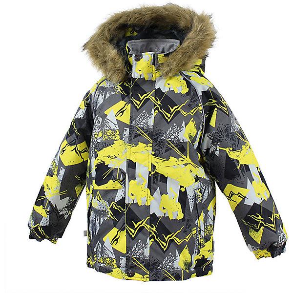 Куртка MARINEL Huppa для мальчикаВерхняя одежда<br>Характеристики товара:<br><br>• цвет: серый;<br>• пол: мальчик;<br>• состав: 100% полиэстер;<br>• утеплитель: полиэстер 300 гр.;<br>• подкладка: тафта, флис;<br>• сезон: зима;<br>• температурный режим: от -5 до - 30С;<br>• водонепроницаемость: 10000 мм ;<br>• воздухопроницаемость: 10000 г/м2/24ч;<br>• особенности модели: c рисунком; с мехом на капюшоне;<br>• манжеты рукавов эластичные, на резинках;<br>• безопасный капюшон крепится на кнопки и, при необходимости, отстегивается;<br>• мех на капюшоне не съемный;<br>• молния с защитным клапаном;<br>• светоотражающие элементы для безопасности ребенка;<br>• страна бренда: Финляндия;<br>• страна изготовитель: Эстония.<br><br>Высококачественная мембрана не пропускает снег и влагу и отлично «дышит», что особенно важно, когда ребенок активно двигается. А современный синтетический утеплитель греет даже на сильном морозе и при этом не теряет своих свойств после многочисленных стирок.<br><br>Куртка прямого кроя с удлиненной спинкой и карманами на липучках. Утяжка по низу и планка на молнии исключает поддувание и попадание снега под куртку. Теплый капюшон с меховой опушкой легко отстегивается. Это предотвращает опасные ситуации во время игры, например, если капюшон ребенка за что-то зацепится. Светоотражающие элементы повышают безопасность ребенка при нахождении на улице при любой видимости и в темное время суток. <br><br>Функциональные элементы: капюшон отстегивается с помощью кнопок, мех не отстегивается, защитная планка молнии на липучке, защита подбородка от защемления, карманы без застежек, манжеты на резинке, утяжка по подолу, светоотражающие элементы. <br><br>Куртку  Marinel для мальчика фирмы HUPPA  можно купить в нашем интернет-магазине.<br>Ширина мм: 356; Глубина мм: 10; Высота мм: 245; Вес г: 519; Цвет: серый; Возраст от месяцев: 84; Возраст до месяцев: 96; Пол: Мужской; Возраст: Детский; Размер: 128,140,110,116,122,134; SKU: 7027379;