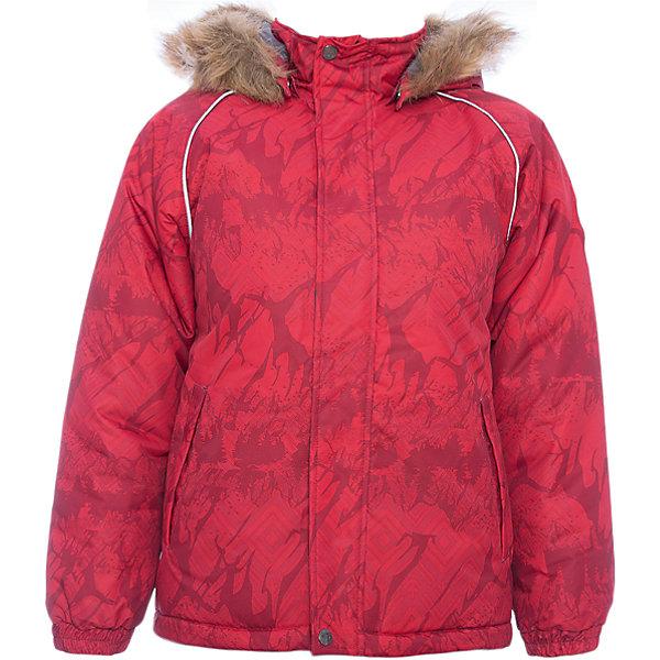 Куртка MARINEL Huppa для девочкиЗимние куртки<br>Характеристики товара:<br><br>• цвет: красный с принтом;<br>• пол: мальчик;<br>• состав: 100% полиэстер;<br>• утеплитель: полиэстер 300 гр.;<br>• подкладка: тафта, флис;<br>• сезон: зима;<br>• температурный режим: от -5 до - 30С;<br>• водонепроницаемость: 10000 мм ;<br>• воздухопроницаемость: 10000 г/м2/24ч;<br>• особенности модели: c рисунком; с мехом на капюшоне;<br>• манжеты рукавов эластичные, на резинках;<br>• безопасный капюшон крепится на кнопки и, при необходимости, отстегивается;<br>• мех на капюшоне не съемный;<br>• молния с защитным клапаном;<br>• светоотражающие элементы для безопасности ребенка;<br>• страна бренда: Финляндия;<br>• страна изготовитель: Эстония.<br><br>Высококачественная мембрана не пропускает снег и влагу и отлично «дышит», что особенно важно, когда ребенок активно двигается. А современный синтетический утеплитель греет даже на сильном морозе и при этом не теряет своих свойств после многочисленных стирок.<br><br>Куртка прямого кроя с удлиненной спинкой и карманами на липучках. Утяжка по низу и планка на молнии исключает поддувание и попадание снега под куртку. Теплый капюшон с меховой опушкой легко отстегивается. Это предотвращает опасные ситуации во время игры, например, если капюшон ребенка за что-то зацепится. Светоотражающие элементы повышают безопасность ребенка при нахождении на улице при любой видимости и в темное время суток. <br><br>Функциональные элементы: капюшон отстегивается с помощью кнопок, мех не отстегивается, защитная планка молнии на липучке, защита подбородка от защемления, карманы без застежек, манжеты на резинке, утяжка по подолу, светоотражающие элементы. <br><br>Куртку  Marinel для мальчика фирмы HUPPA  можно купить в нашем интернет-магазине.<br>Ширина мм: 356; Глубина мм: 10; Высота мм: 245; Вес г: 519; Цвет: красный; Возраст от месяцев: 48; Возраст до месяцев: 60; Пол: Женский; Возраст: Детский; Размер: 122,116,110,140,134,128; SKU: 7027393;