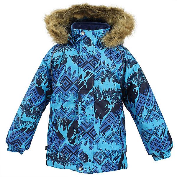 Куртка MARINEL Huppa для мальчикаВерхняя одежда<br>Характеристики товара:<br><br>• цвет: голубой с принтом;<br>• пол: мальчик;<br>• состав: 100% полиэстер;<br>• утеплитель: полиэстер 300 гр.;<br>• подкладка: тафта, флис;<br>• сезон: зима;<br>• температурный режим: от -5 до - 30С;<br>• водонепроницаемость: 10000 мм ;<br>• воздухопроницаемость: 10000 г/м2/24ч;<br>• особенности модели: c рисунком; с мехом на капюшоне;<br>• манжеты рукавов эластичные, на резинках;<br>• безопасный капюшон крепится на кнопки и, при необходимости, отстегивается;<br>• мех на капюшоне не съемный;<br>• молния с защитным клапаном;<br>• светоотражающие элементы для безопасности ребенка;<br>• страна бренда: Финляндия;<br>• страна изготовитель: Эстония.<br><br>Высококачественная мембрана не пропускает снег и влагу и отлично «дышит», что особенно важно, когда ребенок активно двигается. А современный синтетический утеплитель греет даже на сильном морозе и при этом не теряет своих свойств после многочисленных стирок.<br><br>Куртка прямого кроя с удлиненной спинкой и карманами на липучках. Утяжка по низу и планка на молнии исключает поддувание и попадание снега под куртку. Теплый капюшон с меховой опушкой легко отстегивается. Это предотвращает опасные ситуации во время игры, например, если капюшон ребенка за что-то зацепится. Светоотражающие элементы повышают безопасность ребенка при нахождении на улице при любой видимости и в темное время суток. <br><br>Функциональные элементы: капюшон отстегивается с помощью кнопок, мех не отстегивается, защитная планка молнии на липучке, защита подбородка от защемления, карманы без застежек, манжеты на резинке, утяжка по подолу, светоотражающие элементы. <br><br>Куртку  Marinel для мальчика фирмы HUPPA  можно купить в нашем интернет-магазине.<br>Ширина мм: 356; Глубина мм: 10; Высота мм: 245; Вес г: 519; Цвет: синий; Возраст от месяцев: 72; Возраст до месяцев: 84; Пол: Мужской; Возраст: Детский; Размер: 122,110,140,134,128,116; SKU: 7027400;
