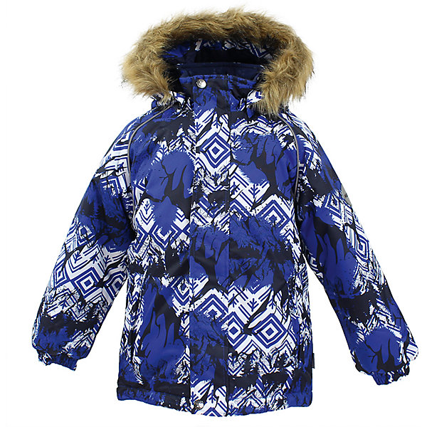 Куртка MARINEL Huppa для мальчикаЗимние куртки<br>Характеристики товара:<br><br>• цвет: синий с принтом;<br>• пол: мальчик;<br>• состав: 100% полиэстер;<br>• утеплитель: полиэстер 300 гр.;<br>• подкладка: тафта, флис;<br>• сезон: зима;<br>• температурный режим: от -5 до - 30С;<br>• водонепроницаемость: 10000 мм ;<br>• воздухопроницаемость: 10000 г/м2/24ч;<br>• особенности модели: c рисунком; с мехом на капюшоне;<br>• манжеты рукавов эластичные, на резинках;<br>• безопасный капюшон крепится на кнопки и, при необходимости, отстегивается;<br>• мех на капюшоне не съемный;<br>• молния с защитным клапаном;<br>• светоотражающие элементы для безопасности ребенка;<br>• страна бренда: Финляндия;<br>• страна изготовитель: Эстония.<br><br>Высококачественная мембрана не пропускает снег и влагу и отлично «дышит», что особенно важно, когда ребенок активно двигается. А современный синтетический утеплитель греет даже на сильном морозе и при этом не теряет своих свойств после многочисленных стирок.<br><br>Куртка прямого кроя с удлиненной спинкой и карманами на липучках. Утяжка по низу и планка на молнии исключает поддувание и попадание снега под куртку. Теплый капюшон с меховой опушкой легко отстегивается. Это предотвращает опасные ситуации во время игры, например, если капюшон ребенка за что-то зацепится. Светоотражающие элементы повышают безопасность ребенка при нахождении на улице при любой видимости и в темное время суток. <br><br>Функциональные элементы: капюшон отстегивается с помощью кнопок, мех не отстегивается, защитная планка молнии на липучке, защита подбородка от защемления, карманы без застежек, манжеты на резинке, утяжка по подолу, светоотражающие элементы. <br><br>Куртку  Marinel для мальчика фирмы HUPPA  можно купить в нашем интернет-магазине.<br>Ширина мм: 356; Глубина мм: 10; Высота мм: 245; Вес г: 519; Цвет: синий; Возраст от месяцев: 48; Возраст до месяцев: 60; Пол: Мужской; Возраст: Детский; Размер: 110,140,134,128,122,116; SKU: 7027407;