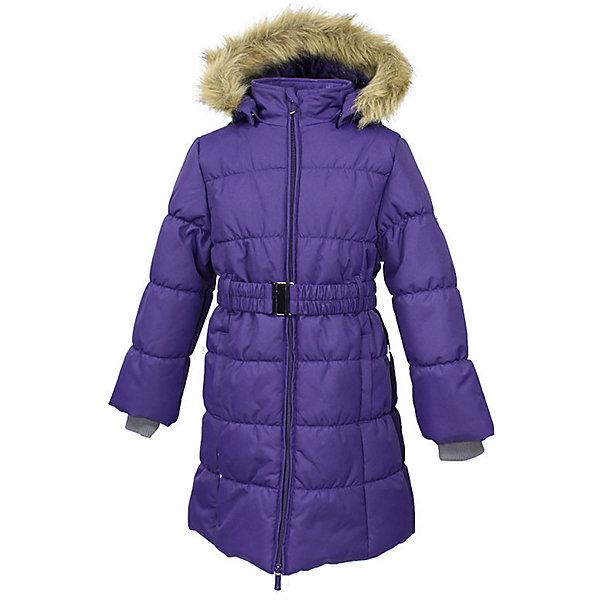 Пальто YACARANDA Huppa для девочкиВерхняя одежда<br>Характеристики товара:<br><br>• цвет: фиолетовый;<br>• пол: девочка;<br>• состав: 100% полиэстер;<br>• утеплитель: полиэстер 300 гр.;<br>• подкладка: тафта, флис;<br>• сезон: зима;<br>• температурный режим: от -5 до - 30С;<br>• водонепроницаемость: 10000 мм ;<br>• воздухопроницаемость:10000 г/м2/24ч;<br>• особенности модели: с мехом на капюшоне;<br>• трикотажные манжеты;<br>• безопасный капюшон крепится на кнопки и, при необходимости, отстегивается;<br>• мех на капюшоне не съемный;<br>• защита подбородка от защемления;<br>• светоотражающие элементы для безопасности ребенка;<br>• страна бренда: Финляндия;<br>• страна изготовитель: Эстония.<br><br>Теплое зимнее пальто для девочек. Это универсальная недорогая модель подойдет как для школы, так и для долгих зимних прогулок. Современный утеплитель HuppaTherm отлично греет даже при очень низких температурах а высококачественная мембрана не пропускает влагу, ветер и снег. <br><br>Приталенный силуэт подчеркнут поясом на застежке. На рукавах есть внутренние манжеты из трикотажа, которые плотно облегают запястья для дополнительного тепла и защиты от продувания. Капюшон на кнопках дополнен опушкой из искусственного меха.<br><br>Функциональные элементы: капюшон отстегивается с помощью кнопок, мех не отстегивается, защита подбородка от защемления, карманы без застежек, трикотажные манжеты, светоотражающие элементы. <br><br>Зимнее пальто Yacaranda для девочки фирмы HUPPA  можно купить в нашем интернет-магазине.<br><br>Ширина мм: 356<br>Глубина мм: 10<br>Высота мм: 245<br>Вес г: 519<br>Цвет: лиловый<br>Возраст от месяцев: 168<br>Возраст до месяцев: 180<br>Пол: Женский<br>Возраст: Детский<br>Размер: 170,104,110,116,122,128,134,140,146,152,158,164<br>SKU: 7027414