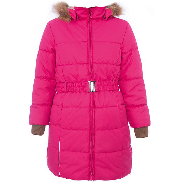 Пальто YACARANDA Huppa для девочкиЗимние куртки<br>Характеристики товара:<br><br>• цвет: фуксия;<br>• пол: девочка;<br>• состав: 100% полиэстер;<br>• утеплитель: полиэстер 300 гр.;<br>• подкладка: тафта, флис;<br>• сезон: зима;<br>• температурный режим: от -5 до - 30С;<br>• водонепроницаемость: 10000 мм ;<br>• воздухопроницаемость:10000 г/м2/24ч;<br>• особенности модели: с мехом на капюшоне;<br>• трикотажные манжеты;<br>• безопасный капюшон крепится на кнопки и, при необходимости, отстегивается;<br>• мех на капюшоне не съемный;<br>• защита подбородка от защемления;<br>• светоотражающие элементы для безопасности ребенка;<br>• страна бренда: Финляндия;<br>• страна изготовитель: Эстония.<br><br>Теплое зимнее пальто для девочек. Это универсальная недорогая модель подойдет как для школы, так и для долгих зимних прогулок. Современный утеплитель HuppaTherm отлично греет даже при очень низких температурах а высококачественная мембрана не пропускает влагу, ветер и снег. <br><br>Приталенный силуэт подчеркнут поясом на застежке. На рукавах есть внутренние манжеты из трикотажа, которые плотно облегают запястья для дополнительного тепла и защиты от продувания. Капюшон на кнопках дополнен опушкой из искусственного меха.<br><br>Функциональные элементы: капюшон отстегивается с помощью кнопок, мех не отстегивается, защита подбородка от защемления, карманы без застежек, трикотажные манжеты, светоотражающие элементы. <br><br>Зимнее пальто Yacaranda для девочки фирмы HUPPA  можно купить в нашем интернет-магазине.<br><br>Ширина мм: 356<br>Глубина мм: 10<br>Высота мм: 245<br>Вес г: 519<br>Цвет: фуксия<br>Возраст от месяцев: 168<br>Возраст до месяцев: 180<br>Пол: Женский<br>Возраст: Детский<br>Размер: 170,128,164,158,152,146,140,134,122,116,110,104<br>SKU: 7027427