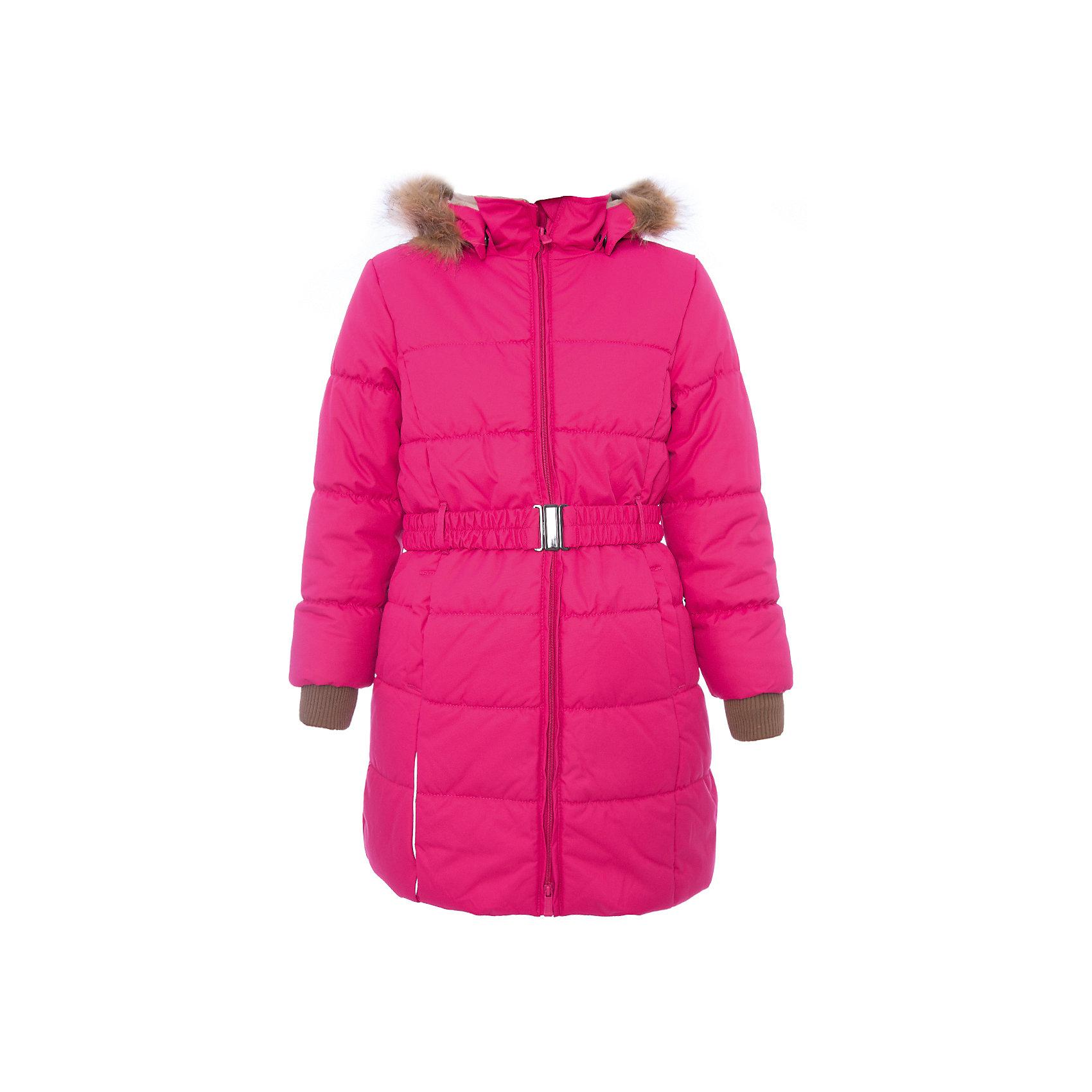 Пальто YACARANDA Huppa для девочкиВерхняя одежда<br>Куртка для девочек YACARANDA.Водо и воздухонепроницаемость 10 000. Утеплитель 300 гр. Подкладка тафта, флис 100% полиэстер. Отстегивающийся капюшон с мехом. Внутренний манжет рукава.Вязаные детали.Двухсторонняя молния. Имеются светоотражательные детали.<br>Состав:<br>100% Полиэстер<br><br>Ширина мм: 356<br>Глубина мм: 10<br>Высота мм: 245<br>Вес г: 519<br>Цвет: фуксия<br>Возраст от месяцев: 168<br>Возраст до месяцев: 180<br>Пол: Женский<br>Возраст: Детский<br>Размер: 170,128,104,110,116,122,134,140,146,152,158,164<br>SKU: 7027427