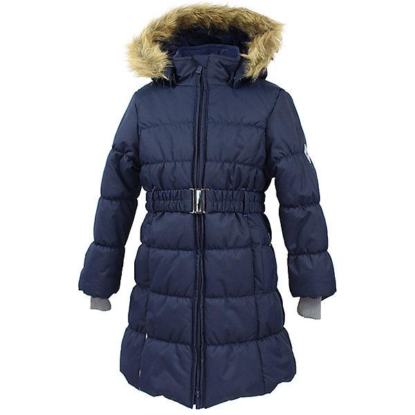 Пальто YACARANDA Huppa для девочкиЗимние куртки<br>Характеристики товара:<br><br>• цвет: синий;<br>• пол: девочка;<br>• состав: 100% полиэстер;<br>• утеплитель: полиэстер 300 гр.;<br>• подкладка: тафта, флис;<br>• сезон: зима;<br>• температурный режим: от -5 до - 30С;<br>• водонепроницаемость: 10000 мм ;<br>• воздухопроницаемость:10000 г/м2/24ч;<br>• особенности модели: с мехом на капюшоне;<br>• трикотажные манжеты;<br>• безопасный капюшон крепится на кнопки и, при необходимости, отстегивается;<br>• мех на капюшоне не съемный;<br>• защита подбородка от защемления;<br>• светоотражающие элементы для безопасности ребенка;<br>• страна бренда: Финляндия;<br>• страна изготовитель: Эстония.<br><br>Теплое зимнее пальто для девочек. Это универсальная недорогая модель подойдет как для школы, так и для долгих зимних прогулок. Современный утеплитель HuppaTherm отлично греет даже при очень низких температурах а высококачественная мембрана не пропускает влагу, ветер и снег. <br><br>Приталенный силуэт подчеркнут поясом на застежке. На рукавах есть внутренние манжеты из трикотажа, которые плотно облегают запястья для дополнительного тепла и защиты от продувания. Капюшон на кнопках дополнен опушкой из искусственного меха.<br><br>Функциональные элементы: капюшон отстегивается с помощью кнопок, мех не отстегивается, защита подбородка от защемления, карманы без застежек, трикотажные манжеты, светоотражающие элементы. <br><br>Зимнее пальто Yacaranda для девочки фирмы HUPPA  можно купить в нашем интернет-магазине.<br>Ширина мм: 356; Глубина мм: 10; Высота мм: 245; Вес г: 519; Цвет: синий; Возраст от месяцев: 36; Возраст до месяцев: 48; Пол: Женский; Возраст: Детский; Размер: 104,170,164,158,152,146,140,134,128,122,116,110; SKU: 7027440;