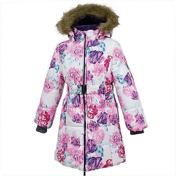 Пальто YACARANDA Huppa для девочкиПальто и плащи<br>Характеристики товара:<br><br>• цвет: бело-розовое;<br>• состав: 100% полиэстер;<br>• утеплитель: полиэстер 300 гр.;<br>• подкладка: тафта, флис;<br>• сезон: зима;<br>• температурный режим: от -5 до - 30С;<br>• водонепроницаемость: 10000 мм ;<br>• воздухопроницаемость:10000 г/м2/24ч;<br>• особенности модели: с мехом на капюшоне;<br>• трикотажные манжеты;<br>• безопасный капюшон крепится на кнопки и, при необходимости, отстегивается;<br>• мех на капюшоне не съемный;<br>• защита подбородка от защемления;<br>• светоотражающие элементы для безопасности ребенка;<br>• страна бренда: Финляндия;<br>• страна изготовитель: Эстония.<br><br>Теплое зимнее пальто для девочек. Это универсальная недорогая модель подойдет как для школы, так и для долгих зимних прогулок. Современный утеплитель HuppaTherm отлично греет даже при очень низких температурах а высококачественная мембрана не пропускает влагу, ветер и снег. <br><br>Приталенный силуэт подчеркнут поясом на застежке. На рукавах есть внутренние манжеты из трикотажа, которые плотно облегают запястья для дополнительного тепла и защиты от продувания. Капюшон на кнопках дополнен опушкой из искусственного меха.<br><br>Функциональные элементы: капюшон отстегивается с помощью кнопок, мех не отстегивается, защита подбородка от защемления, карманы без застежек, трикотажные манжеты, светоотражающие элементы. <br><br>Зимнее пальто Yacaranda для девочки фирмы HUPPA  можно купить в нашем интернет-магазине.<br>Ширина мм: 356; Глубина мм: 10; Высота мм: 245; Вес г: 519; Цвет: розовый/белый; Возраст от месяцев: 72; Возраст до месяцев: 84; Пол: Женский; Возраст: Детский; Размер: 122,116,110,104,170,164,158,152,146,140,134,128; SKU: 7027453;