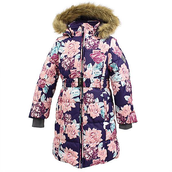 Пальто YACARANDA Huppa для девочкиВерхняя одежда<br>Характеристики товара:<br><br>• цвет: темно-лилoвый;<br>• пол: девочка;<br>• состав: 100% полиэстер;<br>• утеплитель: полиэстер 300 гр.;<br>• подкладка: тафта, флис;<br>• сезон: зима;<br>• температурный режим: от -5 до - 30С;<br>• водонепроницаемость: 10000 мм ;<br>• воздухопроницаемость:10000 г/м2/24ч;<br>• особенности модели: с мехом на капюшоне;<br>• трикотажные манжеты;<br>• безопасный капюшон крепится на кнопки и, при необходимости, отстегивается;<br>• мех на капюшоне не съемный;<br>• защита подбородка от защемления;<br>• светоотражающие элементы для безопасности ребенка;<br>• страна бренда: Финляндия;<br>• страна изготовитель: Эстония.<br><br>Теплое зимнее пальто для девочек. Это универсальная недорогая модель подойдет как для школы, так и для долгих зимних прогулок. Современный утеплитель HuppaTherm отлично греет даже при очень низких температурах а высококачественная мембрана не пропускает влагу, ветер и снег. <br><br>Приталенный силуэт подчеркнут поясом на застежке. На рукавах есть внутренние манжеты из трикотажа, которые плотно облегают запястья для дополнительного тепла и защиты от продувания. Капюшон на кнопках дополнен опушкой из искусственного меха.<br><br>Функциональные элементы: капюшон отстегивается с помощью кнопок, мех не отстегивается, защита подбородка от защемления, карманы без застежек, трикотажные манжеты, светоотражающие элементы. <br><br>Зимнее пальто Yacaranda для девочки фирмы HUPPA  можно купить в нашем интернет-магазине.<br>Ширина мм: 356; Глубина мм: 10; Высота мм: 245; Вес г: 519; Цвет: фиолетовый; Возраст от месяцев: 144; Возраст до месяцев: 156; Пол: Женский; Возраст: Детский; Размер: 116,122,128,134,140,146,158,152,164,170,104,110; SKU: 7027479;