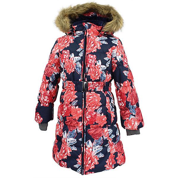 Пальто YACARANDA Huppa для девочкиВерхняя одежда<br>Характеристики товара:<br><br>• цвет: темно - синий;<br>• пол: девочка;<br>• состав: 100% полиэстер;<br>• утеплитель: полиэстер 300 гр.;<br>• подкладка: тафта, флис;<br>• сезон: зима;<br>• температурный режим: от -5 до - 30С;<br>• водонепроницаемость: 10000 мм ;<br>• воздухопроницаемость:10000 г/м2/24ч;<br>• особенности модели: с мехом на капюшоне;<br>• трикотажные манжеты;<br>• безопасный капюшон крепится на кнопки и, при необходимости, отстегивается;<br>• мех на капюшоне не съемный;<br>• защита подбородка от защемления;<br>• светоотражающие элементы для безопасности ребенка;<br>• страна бренда: Финляндия;<br>• страна изготовитель: Эстония.<br><br>Теплое зимнее пальто для девочек. Это универсальная недорогая модель подойдет как для школы, так и для долгих зимних прогулок. Современный утеплитель HuppaTherm отлично греет даже при очень низких температурах а высококачественная мембрана не пропускает влагу, ветер и снег. <br><br>Приталенный силуэт подчеркнут поясом на застежке. На рукавах есть внутренние манжеты из трикотажа, которые плотно облегают запястья для дополнительного тепла и защиты от продувания. Капюшон на кнопках дополнен опушкой из искусственного меха.<br><br>Функциональные элементы: капюшон отстегивается с помощью кнопок, мех не отстегивается, защита подбородка от защемления, карманы без застежек, трикотажные манжеты, светоотражающие элементы. <br><br>Зимнее пальто Yacaranda для девочки фирмы HUPPA  можно купить в нашем интернет-магазине.<br>Ширина мм: 356; Глубина мм: 10; Высота мм: 245; Вес г: 519; Цвет: синий; Возраст от месяцев: 36; Возраст до месяцев: 48; Пол: Женский; Возраст: Детский; Размер: 104,134,128,122,116,110,170,164,158,152,146,140; SKU: 7027492;