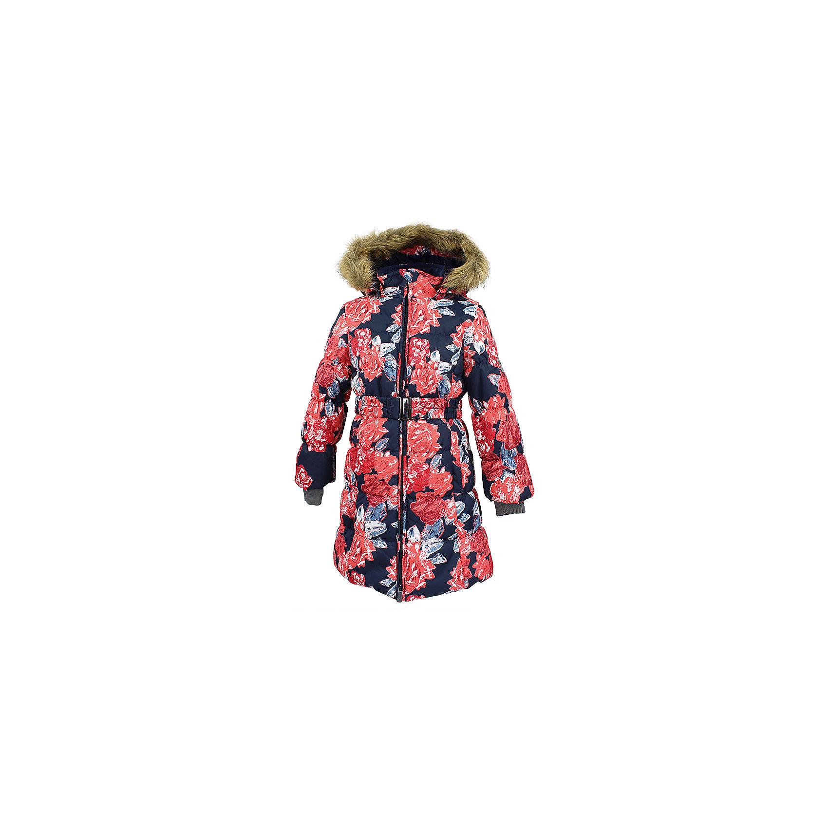 Пальто YACARANDA Huppa для девочкиВерхняя одежда<br>Характеристики товара:<br><br>• цвет: темно - синий;<br>• пол: девочка;<br>• состав: 100% полиэстер;<br>• утеплитель: полиэстер 300 гр.;<br>• подкладка: тафта, флис;<br>• сезон: зима;<br>• температурный режим: от -5 до - 30С;<br>• водонепроницаемость: 10000 мм ;<br>• воздухопроницаемость:10000 г/м2/24ч;<br>• особенности модели: с мехом на капюшоне;<br>• трикотажные манжеты;<br>• безопасный капюшон крепится на кнопки и, при необходимости, отстегивается;<br>• мех на капюшоне не съемный;<br>• защита подбородка от защемления;<br>• светоотражающие элементы для безопасности ребенка;<br>• страна бренда: Финляндия;<br>• страна изготовитель: Эстония.<br><br>Теплое зимнее пальто для девочек. Это универсальная недорогая модель подойдет как для школы, так и для долгих зимних прогулок. Современный утеплитель HuppaTherm отлично греет даже при очень низких температурах а высококачественная мембрана не пропускает влагу, ветер и снег. <br><br>Приталенный силуэт подчеркнут поясом на застежке. На рукавах есть внутренние манжеты из трикотажа, которые плотно облегают запястья для дополнительного тепла и защиты от продувания. Капюшон на кнопках дополнен опушкой из искусственного меха.<br><br>Функциональные элементы: капюшон отстегивается с помощью кнопок, мех не отстегивается, защита подбородка от защемления, карманы без застежек, трикотажные манжеты, светоотражающие элементы. <br><br>Зимнее пальто Yacaranda для девочки фирмы HUPPA  можно купить в нашем интернет-магазине.<br><br>Ширина мм: 356<br>Глубина мм: 10<br>Высота мм: 245<br>Вес г: 519<br>Цвет: синий<br>Возраст от месяцев: 168<br>Возраст до месяцев: 180<br>Пол: Женский<br>Возраст: Детский<br>Размер: 170,104,110,116,122,128,134,140,146,152,158,164<br>SKU: 7027492