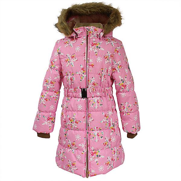 Пальто YACARANDA Huppa для девочкиПальто и плащи<br>Характеристики товара:<br><br>• цвет: розовый;<br>• пол: девочка;<br>• состав: 100% полиэстер;<br>• утеплитель: полиэстер 300 гр.;<br>• подкладка: тафта, флис;<br>• сезон: зима;<br>• температурный режим: от -5 до - 30С;<br>• водонепроницаемость: 10000 мм ;<br>• воздухопроницаемость:10000 г/м2/24ч;<br>• особенности модели: с мехом на капюшоне;<br>• трикотажные манжеты;<br>• безопасный капюшон крепится на кнопки и, при необходимости, отстегивается;<br>• мех на капюшоне не съемный;<br>• защита подбородка от защемления;<br>• светоотражающие элементы для безопасности ребенка;<br>• страна бренда: Финляндия;<br>• страна изготовитель: Эстония.<br><br>Теплое зимнее пальто для девочек. Это универсальная недорогая модель подойдет как для школы, так и для долгих зимних прогулок. Современный утеплитель HuppaTherm отлично греет даже при очень низких температурах а высококачественная мембрана не пропускает влагу, ветер и снег. <br><br>Приталенный силуэт подчеркнут поясом на застежке. На рукавах есть внутренние манжеты из трикотажа, которые плотно облегают запястья для дополнительного тепла и защиты от продувания. Капюшон на кнопках дополнен опушкой из искусственного меха.<br><br>Функциональные элементы: капюшон отстегивается с помощью кнопок, мех не отстегивается, защита подбородка от защемления, карманы без застежек, трикотажные манжеты, светоотражающие элементы. <br><br>Зимнее пальто Yacaranda для девочки фирмы HUPPA  можно купить в нашем интернет-магазине.<br><br>Ширина мм: 356<br>Глубина мм: 10<br>Высота мм: 245<br>Вес г: 519<br>Цвет: светло-розовый<br>Возраст от месяцев: 36<br>Возраст до месяцев: 48<br>Пол: Женский<br>Возраст: Детский<br>Размер: 104,170,164,158,152,146,140,134,128,122,116,110<br>SKU: 7027505