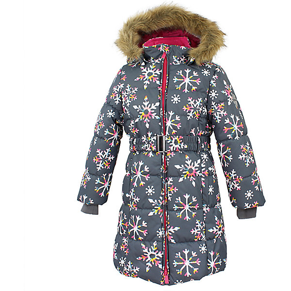 Пальто YACARANDA Huppa для девочкиПальто и плащи<br>Характеристики товара:<br><br>• цвет: серый;<br>• пол: девочка;<br>• состав: 100% полиэстер;<br>• утеплитель: полиэстер 300 гр.;<br>• подкладка: тафта, флис;<br>• сезон: зима;<br>• температурный режим: от -5 до - 30С;<br>• водонепроницаемость: 10000 мм ;<br>• воздухопроницаемость:10000 г/м2/24ч;<br>• особенности модели: с мехом на капюшоне;<br>• трикотажные манжеты;<br>• безопасный капюшон крепится на кнопки и, при необходимости, отстегивается;<br>• мех на капюшоне не съемный;<br>• защита подбородка от защемления;<br>• светоотражающие элементы для безопасности ребенка;<br>• страна бренда: Финляндия;<br>• страна изготовитель: Эстония.<br><br>Теплое зимнее пальто для девочек. Это универсальная недорогая модель подойдет как для школы, так и для долгих зимних прогулок. Современный утеплитель HuppaTherm отлично греет даже при очень низких температурах а высококачественная мембрана не пропускает влагу, ветер и снег. <br><br>Приталенный силуэт подчеркнут поясом на застежке. На рукавах есть внутренние манжеты из трикотажа, которые плотно облегают запястья для дополнительного тепла и защиты от продувания. Капюшон на кнопках дополнен опушкой из искусственного меха.<br><br>Функциональные элементы: капюшон отстегивается с помощью кнопок, мех не отстегивается, защита подбородка от защемления, карманы без застежек, трикотажные манжеты, светоотражающие элементы. <br><br>Зимнее пальто Yacaranda для девочки фирмы HUPPA  можно купить в нашем интернет-магазине.<br><br>Ширина мм: 356<br>Глубина мм: 10<br>Высота мм: 245<br>Вес г: 519<br>Цвет: серый<br>Возраст от месяцев: 168<br>Возраст до месяцев: 180<br>Пол: Женский<br>Возраст: Детский<br>Размер: 104,110,116,122,128,134,170,140,146,152,158,164<br>SKU: 7027518