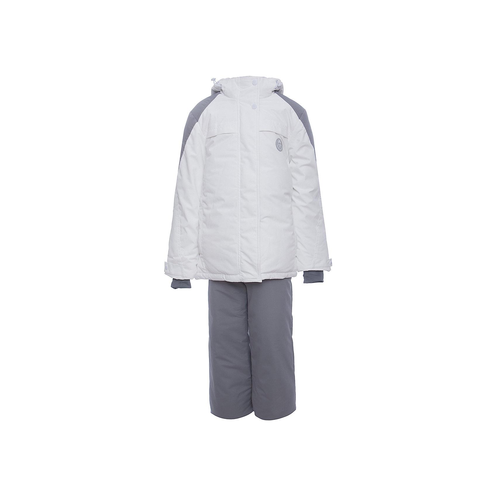 Комплект: куртка и полукомбенизон очками Batik для девочкиВерхняя одежда<br>Характеристики товара:<br><br>• цвет: белый<br>• комплектация: куртка и полукомбинезон <br>• состав ткани: таслан<br>• подкладка: поларфлис<br>• утеплитель: термофин <br>• сезон: зима<br>• мембранное покрытие<br>• температурный режим: от -35 до 0<br>• водонепроницаемость: 5000 мм <br>• паропроницаемость: 5000 г/м2<br>• плотность утеплителя: куртка - 350 г/м2, полукомбинезон - 150 г/м2<br>• застежка: молния<br>• капюшон: без меха, отстегивается<br>• в комплекте горнолыжные очки<br>• встроенный термодатчик<br>• страна бренда: Россия<br>• страна изготовитель: Россия<br><br>Этот мембранный комплект для девочки дополнен очками. Он позволяет создать комфортный микроклимат даже в сильные морозы. Верх детской зимней куртки и полукомбинезона не промокает и не продувается. Мягкая подкладка детского комплекта для зимы приятна на ощупь.<br><br>Комплект: куртка и полукомбинезон Batik (Батик) для девочки можно купить в нашем интернет-магазине.<br><br>Ширина мм: 356<br>Глубина мм: 10<br>Высота мм: 245<br>Вес г: 519<br>Цвет: белый<br>Возраст от месяцев: 156<br>Возраст до месяцев: 168<br>Пол: Женский<br>Возраст: Детский<br>Размер: 164,146,152,158<br>SKU: 7027950