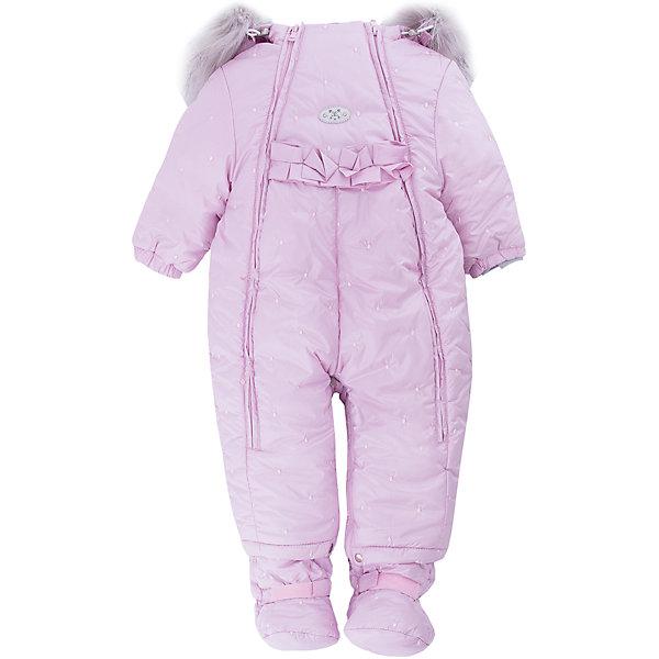 Комбинезон-трансформер Китти Batik для девочкиВерхняя одежда<br>Характеристики товара:<br><br>• цвет: розовый<br>• состав ткани: таффета<br>• подкладка: поларфлис<br>• утеплитель: слайтекс, овчина <br>• сезон: зима<br>• мембранное покрытие<br>• температурный режим: от -35 до 0<br>• водонепроницаемость: 5000 мм <br>• паропроницаемость: 5000 г/м2<br>• плотность утеплителя: 260 г/м2<br>• застежка: молния<br>• капюшон: с мехом<br>• пинетки, опушка и подстежка отстегиваются<br>• трансформируется в конверт<br>• страна бренда: Россия<br>• страна изготовитель: Россия<br><br>Дизайн этого детского комбинезона отличается оригинальной нарядной отделкой. Мягкая подкладка детского комбинезона-трансформера для зимы приятна на ощупь, верх защитит от влаги и ветра. Мембранный комбинезон-трансформер для девочки дополнен съемными пинетками. Комбинезон-трансформер имеет съемную подкладку и опушку на капюшоне.<br><br>Комбинезон-трансформер Китти Batik (Батик) для девочки можно купить в нашем интернет-магазине.<br><br>Ширина мм: 356<br>Глубина мм: 10<br>Высота мм: 245<br>Вес г: 519<br>Цвет: розовый<br>Возраст от месяцев: 12<br>Возраст до месяцев: 15<br>Пол: Женский<br>Возраст: Детский<br>Размер: 80,74<br>SKU: 7027984