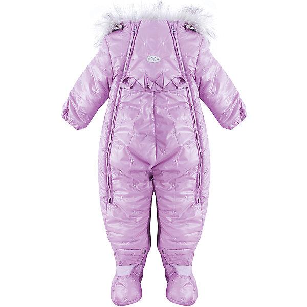 Комбинезон-трансформер Китти Batik для девочкиВерхняя одежда<br>Характеристики товара:<br><br>• цвет: сиреневый<br>• состав ткани: таффета<br>• подкладка: поларфлис<br>• утеплитель: слайтекс, овчина <br>• сезон: зима<br>• мембранное покрытие<br>• температурный режим: от -35 до 0<br>• водонепроницаемость: 5000 мм <br>• паропроницаемость: 5000 г/м2<br>• плотность утеплителя: 260 г/м2<br>• застежка: молния<br>• капюшон: с мехом<br>• пинетки, опушка и подстежка отстегиваются<br>• трансформируется в конверт<br>• страна бренда: Россия<br>• страна изготовитель: Россия<br><br>Мембранный комбинезон-трансформер для девочки Batik дополнен съемными пинетками. Комбинезон-трансформер имеет съемную подкладку и опушку на капюшоне. Дизайн этого детского комбинезона разработан специально для девочек. Мягкая подкладка детского комбинезона-трансформера для зимы приятна на ощупь, верх защитит от влаги и ветра. <br><br>Комбинезон-трансформер Китти Batik (Батик) для девочки можно купить в нашем интернет-магазине.<br><br>Ширина мм: 356<br>Глубина мм: 10<br>Высота мм: 245<br>Вес г: 519<br>Цвет: лиловый<br>Возраст от месяцев: 12<br>Возраст до месяцев: 15<br>Пол: Женский<br>Возраст: Детский<br>Размер: 80,74<br>SKU: 7027990