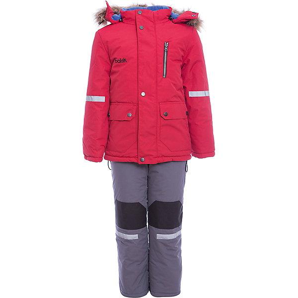 Комплект: куртка и полукомбенизон Артур Batik для мальчикаВерхняя одежда<br>Характеристики товара:<br><br>• цвет: красный<br>• комплектация: куртка и полукомбинезон <br>• состав ткани: таслан<br>• подкладка: поларфлис<br>• утеплитель: шелтер<br>• сезон: зима<br>• мембранное покрытие<br>• температурный режим: от -35 до 0<br>• водонепроницаемость: 5000 мм <br>• паропроницаемость: 5000 г/м2<br>• плотность утеплителя: куртка - 350 г/м2, полукомбинезон - 200 г/м2<br>• застежка: молния<br>• капюшон: с мехом, отстегивается<br>• встроенный термодатчик<br>• износостойкие вставки на брюках<br>• страна бренда: Россия<br>• страна изготовитель: Россия<br><br>Непромокаемый и непродуваемый детский комплект дополнен термодатчиком и отворотами, с помощью которых можно увеличить размер. Зимний мембранный комплект для мальчика легко чистится и долго служит. Детский комплект сделан легкого, но теплого материала. Зимний комплект для ребенка отличается стильным дизайном. <br><br>Комплект: куртка и полукомбинезон Артур Batik (Батик) для мальчика можно купить в нашем интернет-магазине.<br><br>Ширина мм: 356<br>Глубина мм: 10<br>Высота мм: 245<br>Вес г: 519<br>Цвет: красный<br>Возраст от месяцев: 12<br>Возраст до месяцев: 15<br>Пол: Мужской<br>Возраст: Детский<br>Размер: 80,122,116,110,104,98,92,86<br>SKU: 7027993