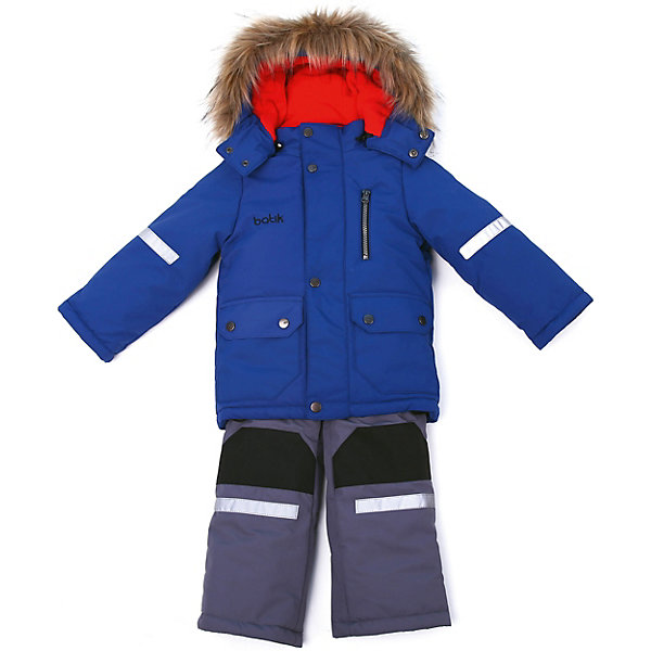 Комплект: куртка и полукомбенизон Артур Batik для мальчикаВерхняя одежда<br>Характеристики товара:<br><br>• цвет: синий<br>• комплектация: куртка и полукомбинезон <br>• состав ткани: таслан<br>• подкладка: поларфлис<br>• утеплитель: шелтер<br>• сезон: зима<br>• мембранное покрытие<br>• температурный режим: от -35 до 0<br>• водонепроницаемость: 5000 мм <br>• паропроницаемость: 5000 г/м2<br>• плотность утеплителя: куртка - 350 г/м2, полукомбинезон - 200 г/м2<br>• застежка: молния<br>• капюшон: с мехом, отстегивается<br>• встроенный термодатчик<br>• износостойкие вставки на брюках<br>• страна бренда: Россия<br>• страна изготовитель: Россия<br><br>Такой детский мембранный комплект отличается качественными материалами и продуманным кроем. Зимний мембранный комплект для мальчика легко чистится и долго служит. Детский комплект сделан легкого, но теплого материала. Зимний комплект для ребенка дополнен множеством полезных деталей. <br><br>Комплект: куртка и полукомбинезон Артур Batik (Батик) для мальчика можно купить в нашем интернет-магазине.<br><br>Ширина мм: 356<br>Глубина мм: 10<br>Высота мм: 245<br>Вес г: 519<br>Цвет: синий<br>Возраст от месяцев: 12<br>Возраст до месяцев: 15<br>Пол: Мужской<br>Возраст: Детский<br>Размер: 80,122,116,110,104,98,92,86<br>SKU: 7028003