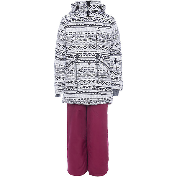 Комплект: куртка и полукомбенизон наушниками Batik для девочкиВерхняя одежда<br>Характеристики товара:<br><br>• цвет: белый, бордовый<br>• комплектация: куртка и полукомбинезон <br>• состав ткани: Poly 051 lamination <br>• подкладка: поларфлис<br>• утеплитель: термофин <br>• сезон: зима<br>• мембранное покрытие<br>• температурный режим: от -25 до 0<br>• водонепроницаемость: 5000 мм <br>• паропроницаемость: 5000 г/м2<br>• плотность утеплителя: куртка - 250 г/м2, полукомбинезон - 100 г/м2<br>• застежка: молния<br>• капюшон: без меха, отстегивается<br>• наушники в комплекте<br>• встроенный термодатчик<br>• страна бренда: Россия<br>• страна изготовитель: Россия<br><br>Стильный мембранный комплект Batik для девочки дополнен множеством деталей, обеспечивающими тепло и комфорт. Непромокаемый и непродуваемый верх детской зимней куртки и полукомбинезона обеспечит тепло. Подкладка детского комплекта для зимы приятная на ощупь.<br><br>Комплект: куртка и полукомбинезон Batik (Батик) для девочки можно купить в нашем интернет-магазине.<br>Ширина мм: 356; Глубина мм: 10; Высота мм: 245; Вес г: 519; Цвет: белый/бордовый; Возраст от месяцев: 120; Возраст до месяцев: 132; Пол: Женский; Возраст: Детский; Размер: 146,140,164,158,152; SKU: 7028044;