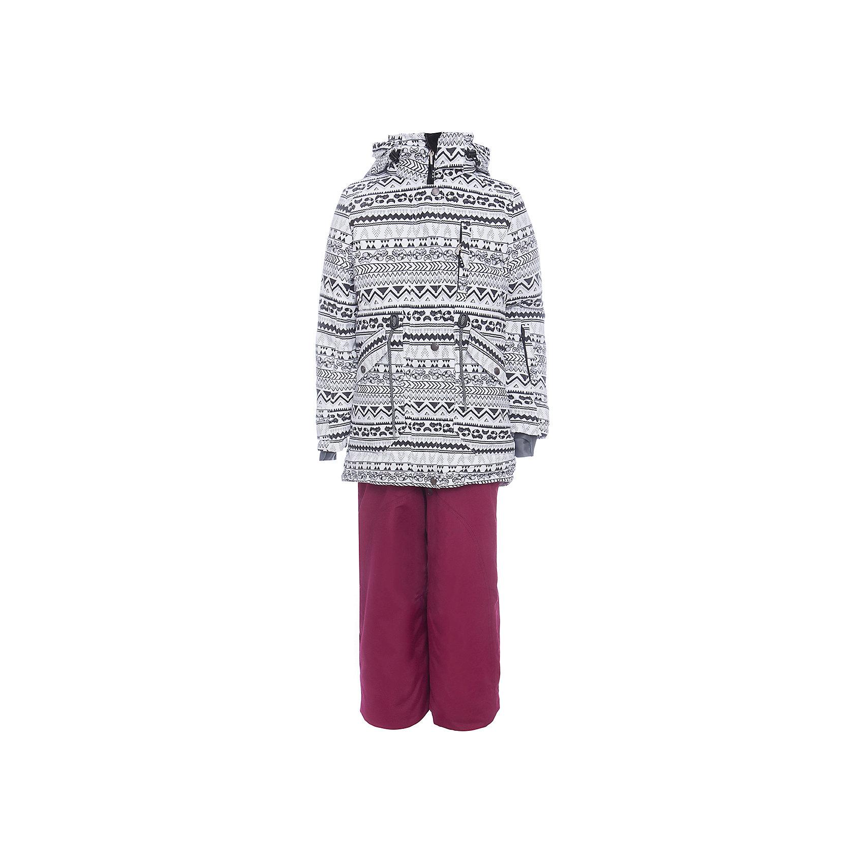 Комплект: куртка и полукомбенизон наушниками Batik для девочкиВерхняя одежда<br>Комплект: куртка и полукомбенизон наушниками Batik для девочки <br>Верхняя ткань обладает водоотталкивающими и ветрозащитными свойствами мембраны. Куртка на молнии с ветрозащитной планкой и юбкой внутри, кулиской на талии и капюшоном на молнии. Полукомбинезон с отстегивающимися лямками.<br>Состав:<br>Ткань верха - POLY 051 LAMINATION;  Утеплитель - Слайтекс 250;  Подкладка - Полар флис;<br><br>Ширина мм: 356<br>Глубина мм: 10<br>Высота мм: 245<br>Вес г: 519<br>Цвет: белый<br>Возраст от месяцев: 156<br>Возраст до месяцев: 168<br>Пол: Женский<br>Возраст: Детский<br>Размер: 164,140,146,152,158<br>SKU: 7028044