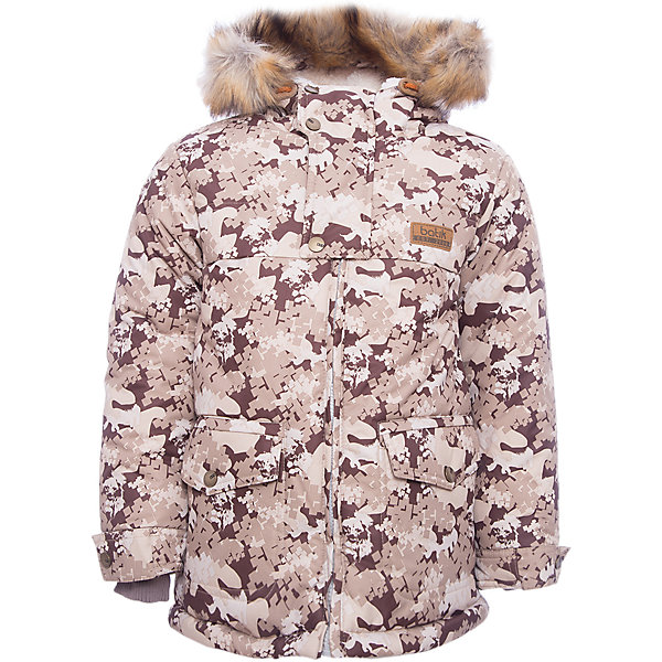 Куртка Бойд Batik для мальчикаВерхняя одежда<br>Характеристики товара:<br><br>• цвет: серый<br>• состав ткани: Poly 051 lamination <br>• подкладка: мех подкладочный под овчину <br>• утеплитель: термофин<br>• сезон: зима<br>• мембранное покрытие<br>• температурный режим: от -35 до 0<br>• водонепроницаемость: 5000 мм <br>• паропроницаемость: 5000 г/м2<br>• плотность утеплителя: 300 г/м2<br>• застежка: молния<br>• капюшон: с мехом<br>• страна бренда: Россия<br>• страна изготовитель: Россия<br><br>Детская зимняя куртка стильная и теплая. Мембранное покрытие детской куртки не задерживает воздух, но защищает от влаги, ветра и холода. Модная куртка Batik для мальчика рассчитана даже на сильные морозы. Детская куртка от бренда Batik отличается продуманным дизайном. <br><br>Куртку Бойд Batik (Батик) для мальчика можно купить в нашем интернет-магазине.<br><br>Ширина мм: 356<br>Глубина мм: 10<br>Высота мм: 245<br>Вес г: 519<br>Цвет: коричневый<br>Возраст от месяцев: 18<br>Возраст до месяцев: 24<br>Пол: Мужской<br>Возраст: Детский<br>Размер: 92,122,116,110,104,98<br>SKU: 7028059