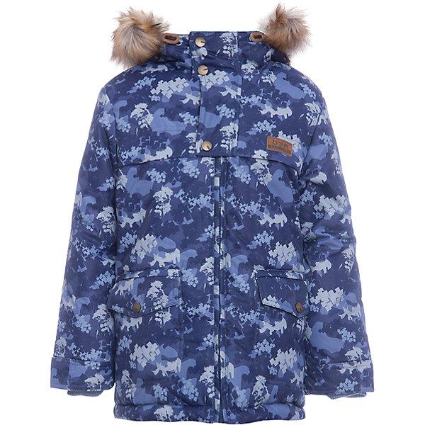 Куртка Бойд Batik для мальчикаВерхняя одежда<br>Характеристики товара:<br><br>• цвет: синий<br>• состав ткани: Poly 051 lamination <br>• подкладка: мех подкладочный под овчину <br>• утеплитель: термофин<br>• сезон: зима<br>• мембранное покрытие<br>• температурный режим: от -35 до 0<br>• водонепроницаемость: 5000 мм <br>• паропроницаемость: 5000 г/м2<br>• плотность утеплителя: 300 г/м2<br>• застежка: молния<br>• капюшон: с мехом<br>• страна бренда: Россия<br>• страна изготовитель: Россия<br><br>Практичная куртка Batik для мальчика благодаря мембранному покрытию подходит для ношения в сильные морозы. Детская куртка от бренда Batik отличается удобным капюшоном и карманами. Мембранная зимняя куртка стильная и теплая. Мембранное покрытие детской куртки не задерживает воздух, но защищает от влаги, ветра и холода. <br><br>Куртку Бойд Batik (Батик) для мальчика можно купить в нашем интернет-магазине.<br><br>Ширина мм: 356<br>Глубина мм: 10<br>Высота мм: 245<br>Вес г: 519<br>Цвет: синий<br>Возраст от месяцев: 18<br>Возраст до месяцев: 24<br>Пол: Мужской<br>Возраст: Детский<br>Размер: 92,122,116,110,104,98<br>SKU: 7028063