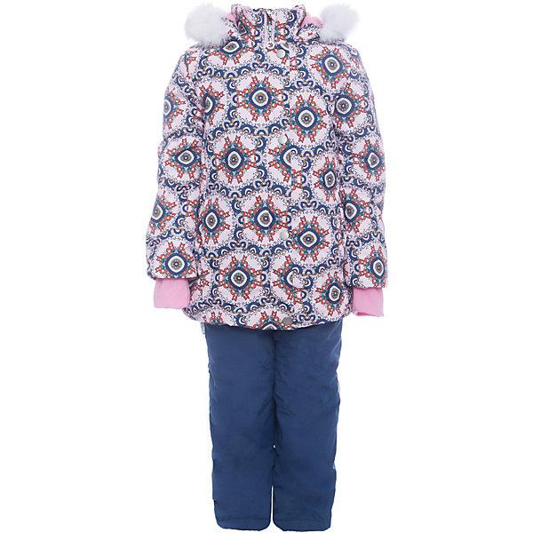 Комплект: куртка и полукомбенизон Дарина Batik для девочкиВерхняя одежда<br>Характеристики товара:<br><br>• цвет: бежевый<br>• комплектация: куртка и полукомбинезон <br>• состав ткани: таслан<br>• подкладка: поларфлис<br>• утеплитель: слайтекс, синтепон <br>• сезон: зима<br>• мембранное покрытие<br>• температурный режим: от -35 до 0<br>• водонепроницаемость: 5000 мм <br>• паропроницаемость: 5000 г/м2<br>• плотность утеплителя: куртка - 350 г/м2, полукомбинезон - 200 г/м2<br>• застежка: молния<br>• капюшон: с мехом, отстегивается<br>• силиконовые штрипки<br>• встроенный термодатчик<br>• страна бренда: Россия<br>• страна изготовитель: Россия<br><br>Этот мембранный комплект для девочки декорирован помпонами-ушками на капюшоне. Он позволяет создать комфортный микроклимат даже в сильные морозы. Верх детской зимней куртки и полукомбинезона не промокает и не продувается. Мягкая подкладка детского комплекта для зимы приятна на ощупь.<br><br>Комплект: куртка и полукомбинезон Дарина Batik (Батик) для девочки можно купить в нашем интернет-магазине.<br><br>Ширина мм: 356<br>Глубина мм: 10<br>Высота мм: 245<br>Вес г: 519<br>Цвет: синий<br>Возраст от месяцев: 12<br>Возраст до месяцев: 18<br>Пол: Женский<br>Возраст: Детский<br>Размер: 86,116,110,104,98,92<br>SKU: 7028128