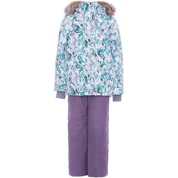 Комплект: куртка и полукомбенизон Герда Batik для девочкиВерхняя одежда<br>Характеристики товара:<br><br>• цвет: бирюзовый<br>• комплектация: куртка и полукомбинезон <br>• состав ткани: таслан<br>• подкладка: поларфлис<br>• утеплитель: слайтекс, синтепон <br>• сезон: зима<br>• мембранное покрытие<br>• температурный режим: от -35 до 0<br>• водонепроницаемость: 5000 мм <br>• паропроницаемость: 5000 г/м2<br>• плотность утеплителя: куртка - 350 г/м2, полукомбинезон - 200 г/м2<br>• застежка: молния<br>• капюшон: с мехом, отстегивается<br>• встроенный термодатчик<br>• страна бренда: Россия<br>• страна изготовитель: Россия<br><br>Этот мембранный комплект для девочки украшен принтом и опушкой на капюшоне. Зимний комплект создан с учетом особенностей строения ребенка. Материал детского зимнего комплекта, усиленный мембраной, не промокает и не продувается. Флисовая подкладка комплекта для зимы обеспечивает комфорт и тепло.<br><br>Комплект: куртка и полукомбинезон Герда Batik (Батик) для девочки можно купить в нашем интернет-магазине.<br><br>Ширина мм: 356<br>Глубина мм: 10<br>Высота мм: 245<br>Вес г: 519<br>Цвет: лиловый<br>Возраст от месяцев: 84<br>Возраст до месяцев: 96<br>Пол: Женский<br>Возраст: Детский<br>Размер: 128,158,152,146,140,134<br>SKU: 7028148