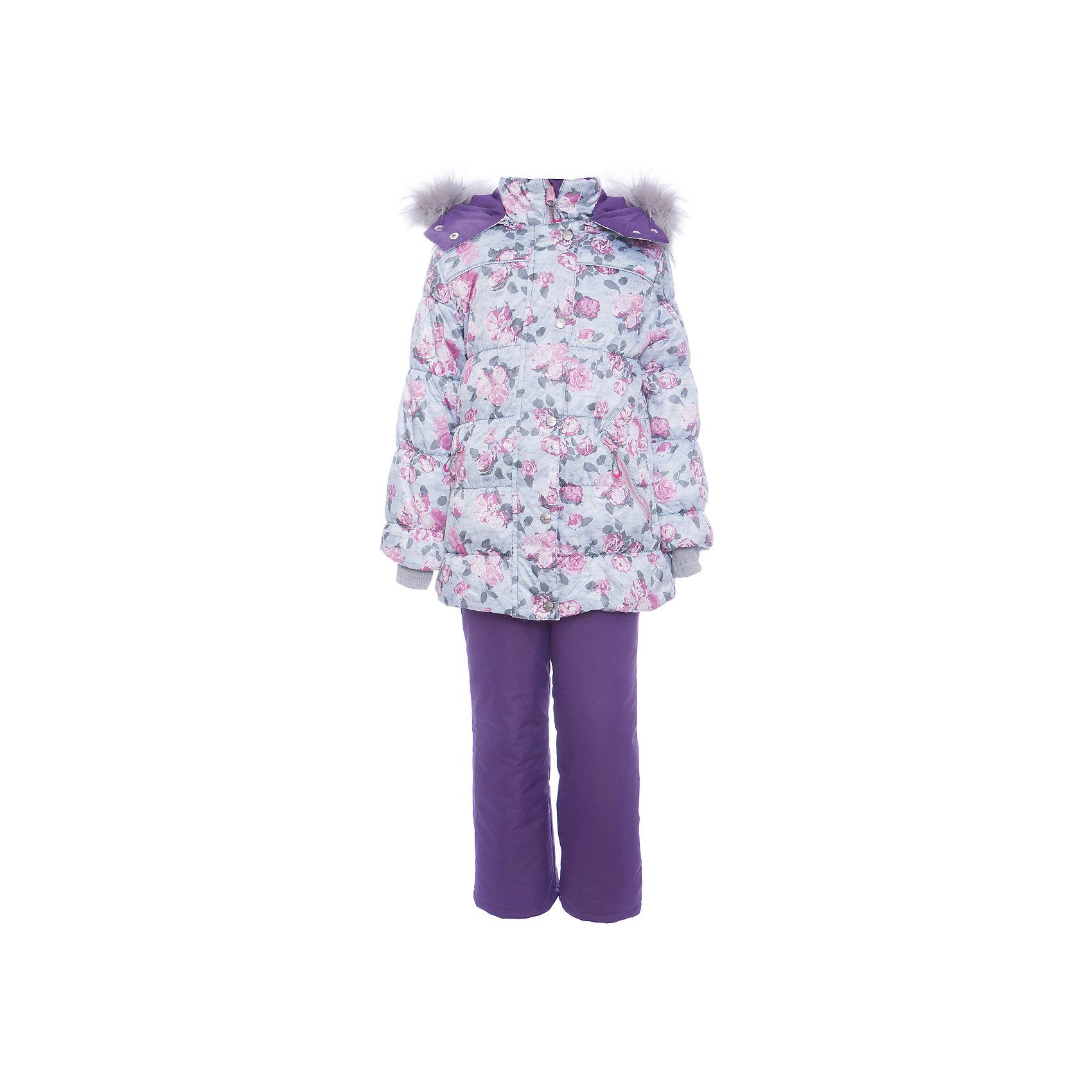 Комплект: куртка и полукомбенизон Белла Batik для девочкиВерхняя одежда<br>Характеристики товара:<br><br>• цвет: сиреневый<br>• комплектация: куртка и полукомбинезон <br>• состав ткани: твил<br>• подкладка: поларфлис<br>• утеплитель: слайтекс, синтепон <br>• сезон: зима<br>• мембранное покрытие<br>• температурный режим: от -35 до 0<br>• водонепроницаемость: 5000 мм <br>• паропроницаемость: 5000 г/м2<br>• плотность утеплителя: куртка - 300 г/м2, полукомбинезон - 200 г/м2<br>• застежка: молния<br>• капюшон: с мехом, отстегивается<br>• встроенный термодатчик<br>• страна бренда: Россия<br>• страна изготовитель: Россия<br><br>Модный мембранный комплект для девочки декорирован стильным принтом на курке и опушкой. Зимний комплект подходит и для морозной и сырой погоды. Материал детской зимней куртки и полукомбинезона надежно защитит от холода и ветра. Мягкая подкладка детского комплекта для зимы приятна на ощупь.<br><br>Комплект: куртка и полукомбинезон Белла Batik (Батик) для девочки можно купить в нашем интернет-магазине.<br><br>Ширина мм: 356<br>Глубина мм: 10<br>Высота мм: 245<br>Вес г: 519<br>Цвет: лиловый<br>Возраст от месяцев: 72<br>Возраст до месяцев: 84<br>Пол: Женский<br>Возраст: Детский<br>Размер: 122,110,104,116<br>SKU: 7028177