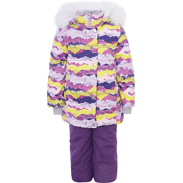 Комплект: куртка и полукомбенизон Регина Batik для девочкиВерхняя одежда<br>Характеристики товара:<br><br>• цвет: розовый<br>• комплектация: куртка и полукомбинезон <br>• состав ткани: таслан<br>• подкладка: поларфлис<br>• утеплитель: слайтекс, синтепон <br>• сезон: зима<br>• мембранное покрытие<br>• температурный режим: от -35 до 0<br>• водонепроницаемость: 5000 мм <br>• паропроницаемость: 5000 г/м2<br>• плотность утеплителя: куртка - 350 г/м2, полукомбинезон - 200 г/м2<br>• застежка: молния<br>• капюшон: с мехом, отстегивается<br>• встроенный термодатчик<br>• страна бренда: Россия<br>• страна изготовитель: Россия<br><br>Плотный материал детского зимнего комплекта, усиленный мембраной, не промокает и не продувается. Флисовая подкладка комплекта для зимы обеспечивает комфорт и тепло. Теплый детский комплект создан с учетом модных тенденций и особенностей строения ребенка. <br><br>Комплект: куртка и полукомбинезон Регина Batik (Батик) для девочки можно купить в нашем интернет-магазине.<br><br>Ширина мм: 356<br>Глубина мм: 10<br>Высота мм: 245<br>Вес г: 519<br>Цвет: лиловый<br>Возраст от месяцев: 72<br>Возраст до месяцев: 84<br>Пол: Женский<br>Возраст: Детский<br>Размер: 122,116,110,104<br>SKU: 7028229