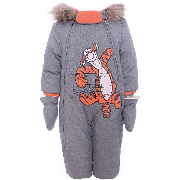 Комбинезон Тигра Batik для мальчикаВерхняя одежда<br>Характеристики товара:<br><br>• цвет: серый<br>• состав ткани: твил<br>• подкладка: поларфлис<br>• утеплитель: слайтекс, овчина <br>• сезон: зима<br>• мембранное покрытие<br>• температурный режим: от -35 до 0<br>• водонепроницаемость: 5000 мм <br>• паропроницаемость: 5000 г/м2<br>• плотность утеплителя: 260 г/м2<br>• застежка: молния<br>• капюшон: с мехом<br>• силиконовые штрипки<br>• опушка и подстежка отстегиваются<br>• страна бренда: Россия<br>• страна изготовитель: Россия<br><br>Такой зимний комбинезон для мальчика декорирован оригинальным принтом. Верх детского комбинезона надежно защищает от холода и влаги. Подкладка комбинезона для мальчика мягкая и теплая. Мембранный зимний комбинезон дополнен капюшоном, силиконовыми штрипками и удобными молниями. <br><br>Комбинезон Тигра Batik (Батик) для мальчика можно купить в нашем интернет-магазине.<br>Ширина мм: 356; Глубина мм: 10; Высота мм: 245; Вес г: 519; Цвет: серый; Возраст от месяцев: 6; Возраст до месяцев: 9; Пол: Мужской; Возраст: Детский; Размер: 86,80,74; SKU: 7028273;