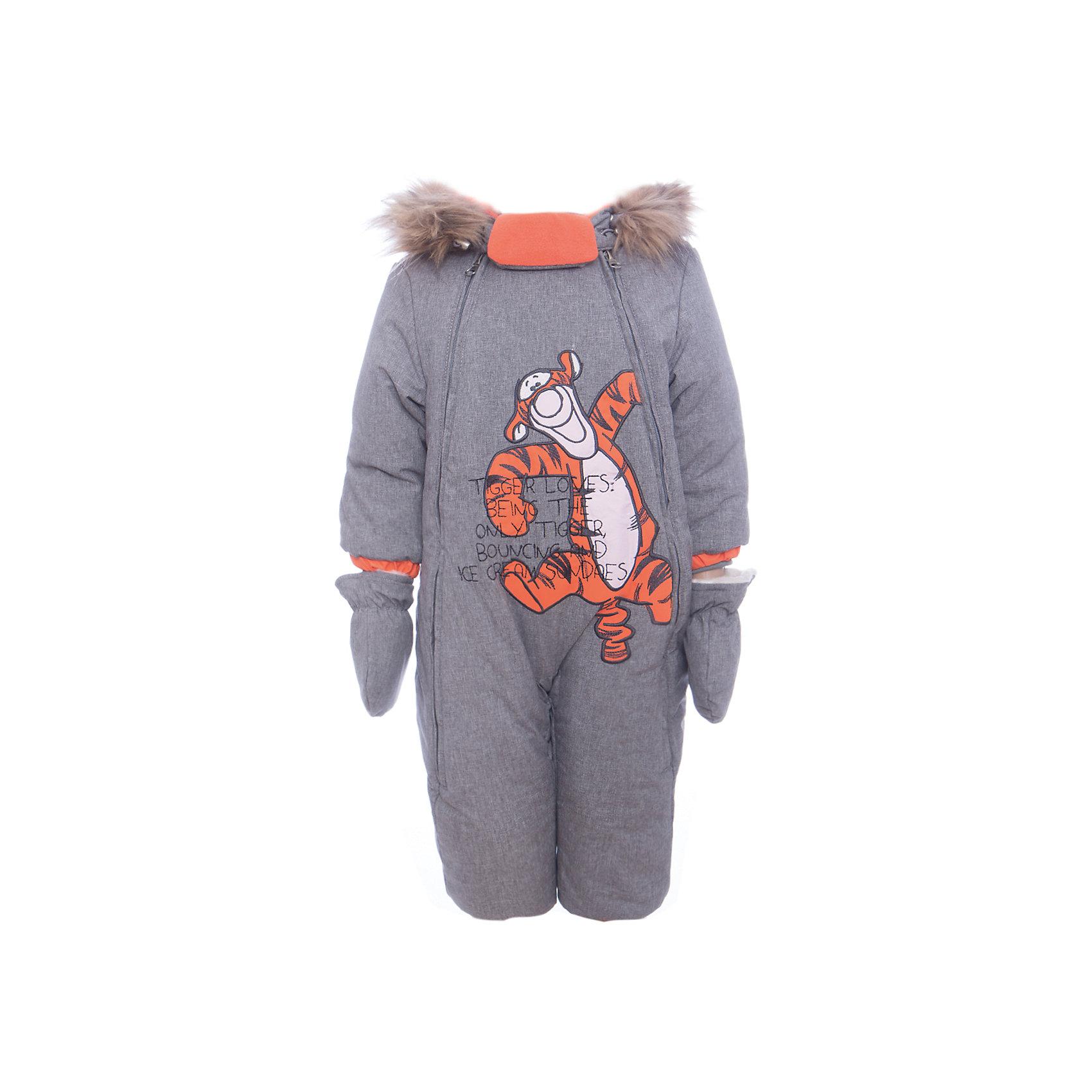 Комбинезон Тигра Batik для мальчикаВерхняя одежда<br>Комбинезон Тигра Batik для мальчика<br>Верхняя ткань обладает водоотталкивающими и ветрозащитными свойствами мембраны. Комбинезон имеет 2 молнии по бокам, утягивающую резинку на талии спинки. Капюшон на молнии с съемной опушкой. На ножках силиконовые штрипки.<br>Состав:<br>Ткань верха - TWILL;  Утеплитель - Шелтер 260, овчина;  Подкладка - Полар флис;<br><br>Ширина мм: 356<br>Глубина мм: 10<br>Высота мм: 245<br>Вес г: 519<br>Цвет: серый<br>Возраст от месяцев: 12<br>Возраст до месяцев: 18<br>Пол: Мужской<br>Возраст: Детский<br>Размер: 86,74,80<br>SKU: 7028273