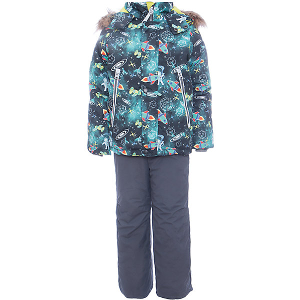 Комплект: куртка и полукомбенизон Космос Batik для мальчикаВерхняя одежда<br>Характеристики товара:<br><br>• цвет: бирюзовый<br>• комплектация: куртка и полукомбинезон <br>• состав ткани: таслан<br>• подкладка: поларфлис<br>• утеплитель: слайтекс<br>• сезон: зима<br>• мембранное покрытие<br>• температурный режим: от -35 до 0<br>• водонепроницаемость: 5000 мм <br>• паропроницаемость: 5000 г/м2<br>• плотность утеплителя: куртка - 350 г/м2, полукомбинезон - 200 г/м2<br>• застежка: молния<br>• капюшон: с мехом, отстегивается<br>• встроенный термодатчик<br>• страна бренда: Россия<br>• страна изготовитель: Россия<br><br>Стильный мембранный комплект для мальчика отличается удобными карманами и капюшоном. Зимний мембранный комплект для мальчика легко чистится и долго служит. Детский комплект для зимы сделан легкого, но теплого материала. Зимний комплект для ребенка дополнен множеством полезных деталей. <br><br>Комплект: куртка и полукомбинезон Космос Batik (Батик) для мальчика можно купить в нашем интернет-магазине.<br><br>Ширина мм: 356<br>Глубина мм: 10<br>Высота мм: 245<br>Вес г: 519<br>Цвет: темно-серый<br>Возраст от месяцев: 18<br>Возраст до месяцев: 24<br>Пол: Мужской<br>Возраст: Детский<br>Размер: 92,116,110,104,98,86<br>SKU: 7028277