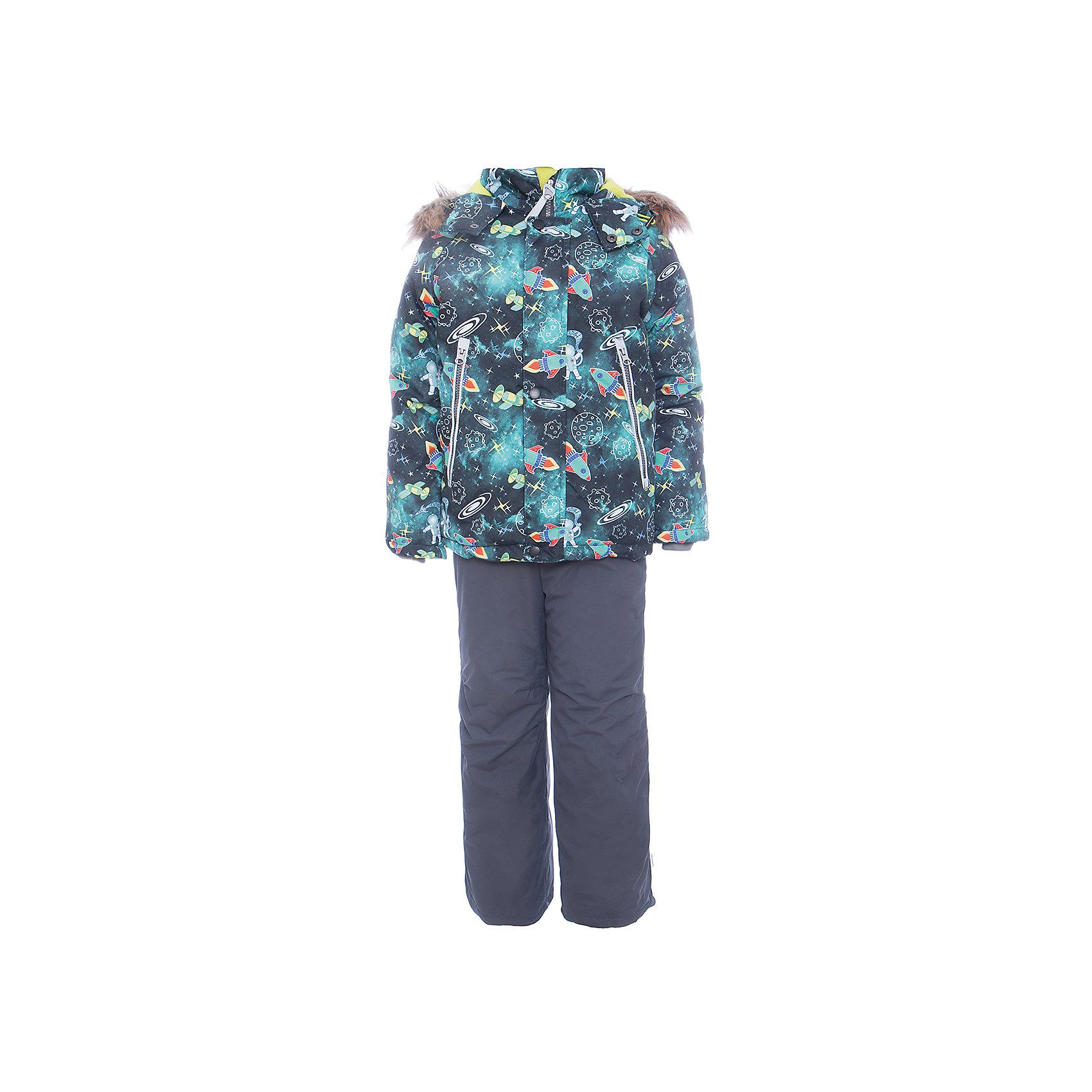 Комплект: куртка и полукомбенизон Космос Batik для мальчикаВерхняя одежда<br>Характеристики товара:<br><br>• цвет: бирюзовый<br>• комплектация: куртка и полукомбинезон <br>• состав ткани: таслан<br>• подкладка: поларфлис<br>• утеплитель: слайтекс<br>• сезон: зима<br>• мембранное покрытие<br>• температурный режим: от -35 до 0<br>• водонепроницаемость: 5000 мм <br>• паропроницаемость: 5000 г/м2<br>• плотность утеплителя: куртка - 350 г/м2, полукомбинезон - 200 г/м2<br>• застежка: молния<br>• капюшон: с мехом, отстегивается<br>• встроенный термодатчик<br>• страна бренда: Россия<br>• страна изготовитель: Россия<br><br>Стильный мембранный комплект для мальчика отличается удобными карманами и капюшоном. Зимний мембранный комплект для мальчика легко чистится и долго служит. Детский комплект для зимы сделан легкого, но теплого материала. Зимний комплект для ребенка дополнен множеством полезных деталей. <br><br>Комплект: куртка и полукомбинезон Космос Batik (Батик) для мальчика можно купить в нашем интернет-магазине.<br><br>Ширина мм: 356<br>Глубина мм: 10<br>Высота мм: 245<br>Вес г: 519<br>Цвет: темно-серый<br>Возраст от месяцев: 60<br>Возраст до месяцев: 72<br>Пол: Мужской<br>Возраст: Детский<br>Размер: 116,92,86,98,104,110<br>SKU: 7028277