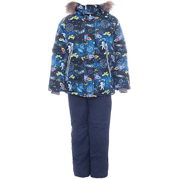 Комплект: куртка и полукомбенизон Космос Batik для мальчикаВерхняя одежда<br>Характеристики товара:<br><br>• цвет: синий<br>• комплектация: куртка и полукомбинезон <br>• состав ткани: таслан<br>• подкладка: поларфлис<br>• утеплитель: слайтекс<br>• сезон: зима<br>• мембранное покрытие<br>• температурный режим: от -35 до 0<br>• водонепроницаемость: 5000 мм <br>• паропроницаемость: 5000 г/м2<br>• плотность утеплителя: куртка - 350 г/м2, полукомбинезон - 200 г/м2<br>• застежка: молния<br>• капюшон: с мехом, отстегивается<br>• встроенный термодатчик<br>• страна бренда: Россия<br>• страна изготовитель: Россия<br><br>Оригинальный детский комплект защитит ребенка от попадания снега внутрь благодаря манжетам. Мягкая подкладка детского комплекта для зимы делает его очень комфортным. Мембранное покрытие такого комплекта для мальчика позволяет ребенку не мерзнуть даже в сильный мороз. Этот теплый комплект для мальчика защищает ребенка также от ветра и сырости. <br><br>Комплект: куртка и полукомбинезон Космос Batik (Батик) для мальчика можно купить в нашем интернет-магазине.<br><br>Ширина мм: 356<br>Глубина мм: 10<br>Высота мм: 245<br>Вес г: 519<br>Цвет: синий<br>Возраст от месяцев: 12<br>Возраст до месяцев: 18<br>Пол: Мужской<br>Возраст: Детский<br>Размер: 86,92,98,104,110,116<br>SKU: 7028281
