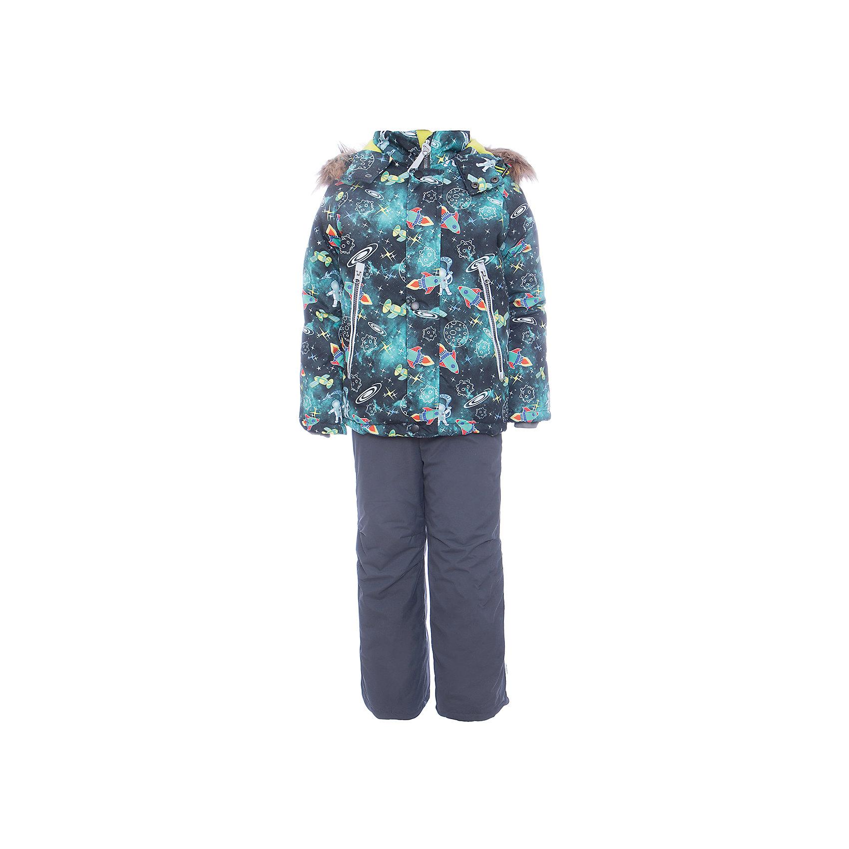Комплект: куртка и полукомбенизон Космос Batik для мальчикаВерхняя одежда<br>Комплект: куртка и полукомбенизон Космос Batik для мальчика<br>Верхняя ткань обладает водоотталкивающими и ветрозащитными свойствами мембраны. Куртка на молнии с ветрозащитной планкой, светоотражающими элементами и съемным капюшоном. Полукомбинезон с отстегивающимися лямками.<br>Состав:<br>Ткань верха - TASLON OXFORD;  Утеплитель - Слайтекс 350;  Подкладка - Полар флис;<br><br>Ширина мм: 356<br>Глубина мм: 10<br>Высота мм: 245<br>Вес г: 519<br>Цвет: темно-серый<br>Возраст от месяцев: 60<br>Возраст до месяцев: 72<br>Пол: Мужской<br>Возраст: Детский<br>Размер: 116,104,110<br>SKU: 7028285