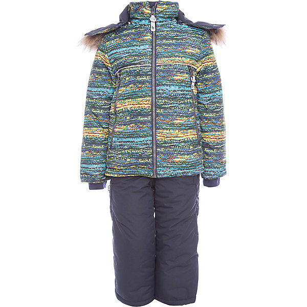 Комплект: куртка и полукомбенизон Алёша Batik для мальчикаВерхняя одежда<br>Характеристики товара:<br><br>• цвет: синий<br>• комплектация: куртка и полукомбинезон <br>• состав ткани: таслан<br>• подкладка: поларфлис<br>• утеплитель: слайтекс<br>• сезон: зима<br>• мембранное покрытие<br>• температурный режим: от -35 до 0<br>• водонепроницаемость: 5000 мм <br>• паропроницаемость: 5000 г/м2<br>• плотность утеплителя: куртка - 350 г/м2, полукомбинезон - 200 г/м2<br>• застежка: молния<br>• капюшон: с мехом, отстегивается<br>• силиконовые штрипки<br>• встроенный термодатчик<br>• страна бренда: Россия<br>• страна изготовитель: Россия<br><br>Прочное мембранное покрытие детского комплекта надежно защищает от холода и влаги. Подкладка комплекта для мальчика мягкая и теплая. Мембранный зимний комплект дополнен капюшоном, карманами и удобной молнией. Такой зимний комплект для мальчика декорирован оригинальным принтом. <br><br>Комплект: куртка и полукомбинезон Алёша Batik (Батик) для мальчика можно купить в нашем интернет-магазине.<br><br>Ширина мм: 356<br>Глубина мм: 10<br>Высота мм: 245<br>Вес г: 519<br>Цвет: синий<br>Возраст от месяцев: 18<br>Возраст до месяцев: 24<br>Пол: Мужской<br>Возраст: Детский<br>Размер: 92,116,110,104,98<br>SKU: 7028299