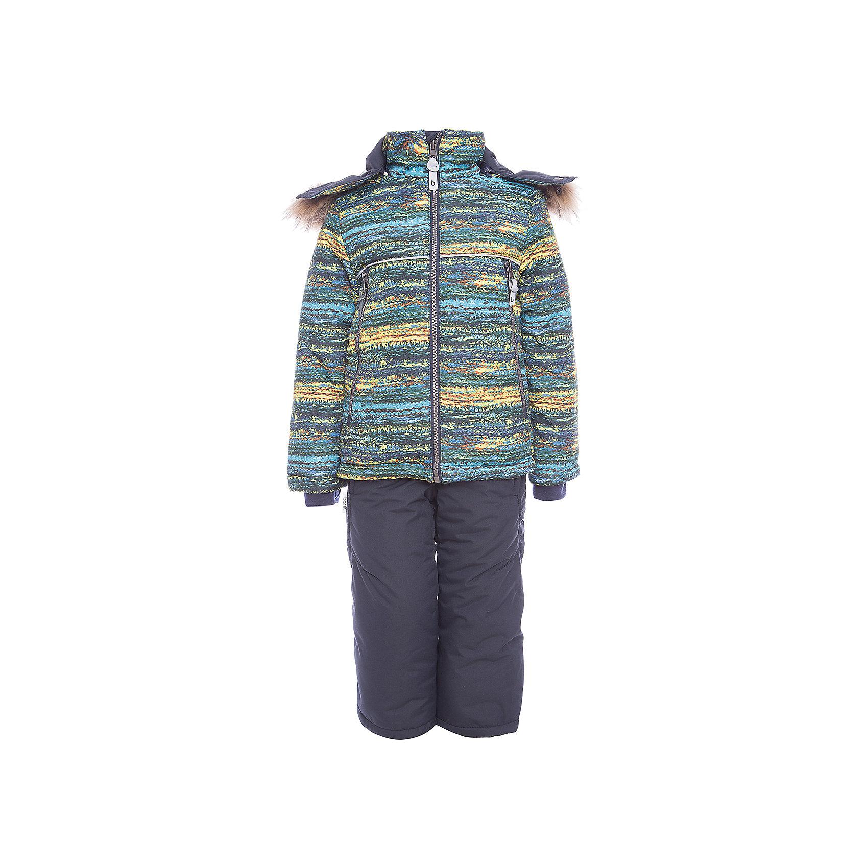 Комплект: куртка и полукомбенизон Алёша Batik для мальчикаВерхняя одежда<br>Характеристики товара:<br><br>• цвет: синий<br>• комплектация: куртка и полукомбинезон <br>• состав ткани: таслан<br>• подкладка: поларфлис<br>• утеплитель: слайтекс<br>• сезон: зима<br>• мембранное покрытие<br>• температурный режим: от -35 до 0<br>• водонепроницаемость: 5000 мм <br>• паропроницаемость: 5000 г/м2<br>• плотность утеплителя: куртка - 350 г/м2, полукомбинезон - 200 г/м2<br>• застежка: молния<br>• капюшон: с мехом, отстегивается<br>• силиконовые штрипки<br>• встроенный термодатчик<br>• страна бренда: Россия<br>• страна изготовитель: Россия<br><br>Прочное мембранное покрытие детского комплекта надежно защищает от холода и влаги. Подкладка комплекта для мальчика мягкая и теплая. Мембранный зимний комплект дополнен капюшоном, карманами и удобной молнией. Такой зимний комплект для мальчика декорирован оригинальным принтом. <br><br>Комплект: куртка и полукомбинезон Алёша Batik (Батик) для мальчика можно купить в нашем интернет-магазине.<br><br>Ширина мм: 356<br>Глубина мм: 10<br>Высота мм: 245<br>Вес г: 519<br>Цвет: синий<br>Возраст от месяцев: 60<br>Возраст до месяцев: 72<br>Пол: Мужской<br>Возраст: Детский<br>Размер: 116,92,98,104,110<br>SKU: 7028299